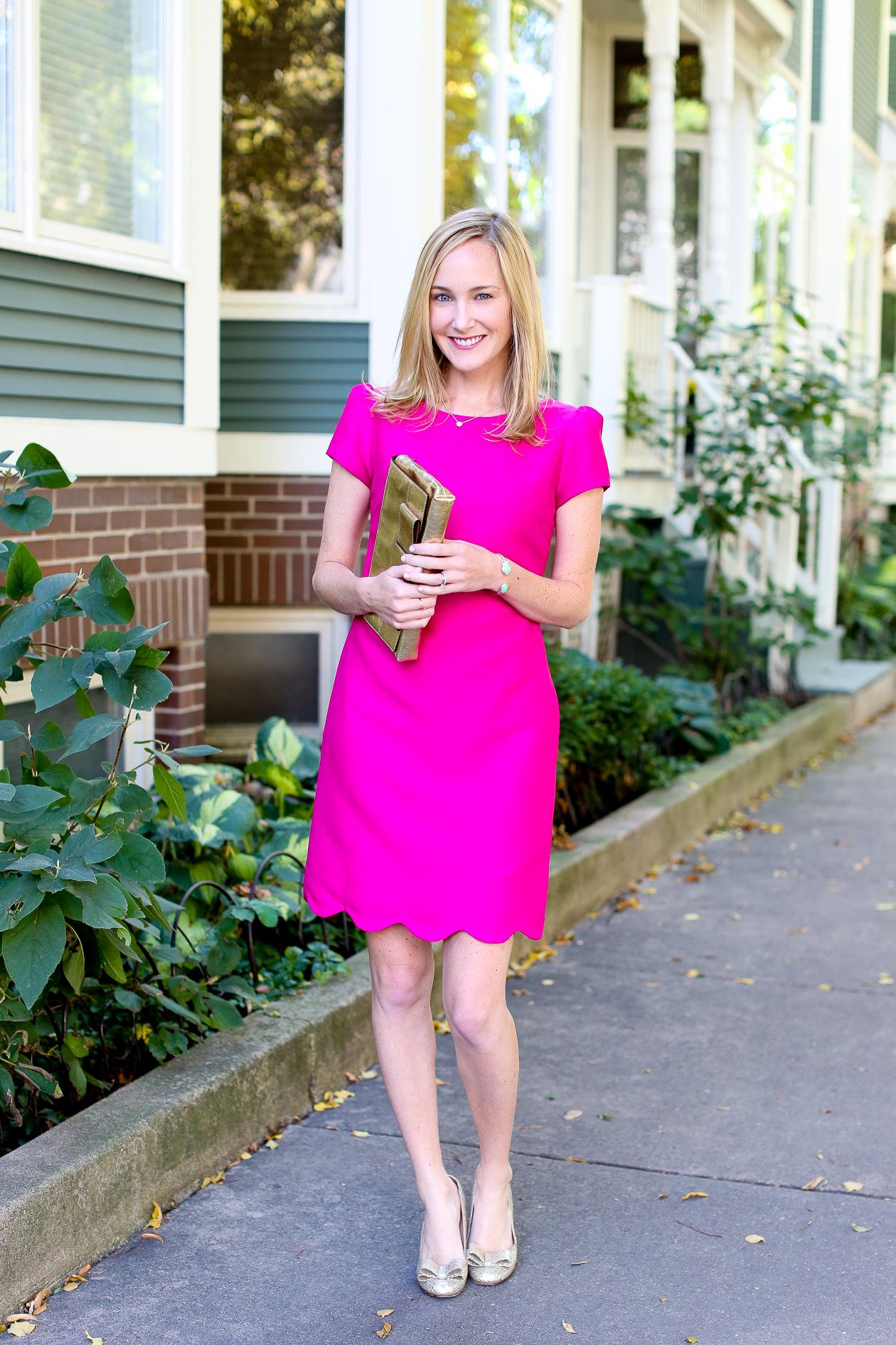 Camilyn Beth Scalloped Bridgette Dress-600