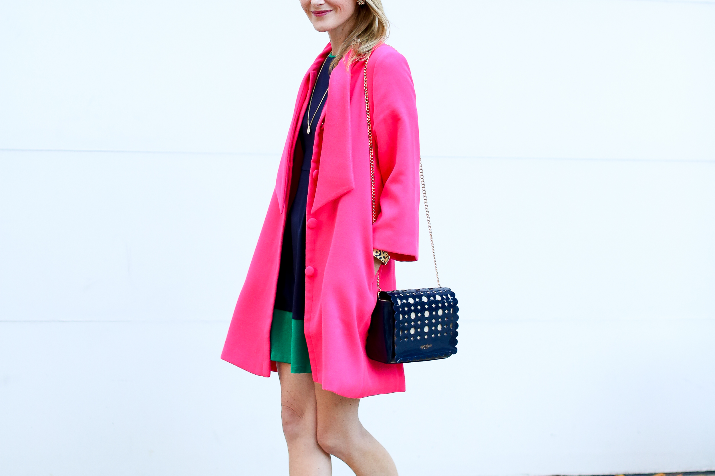 Pink Bow Coat-100 - Kelly in the City