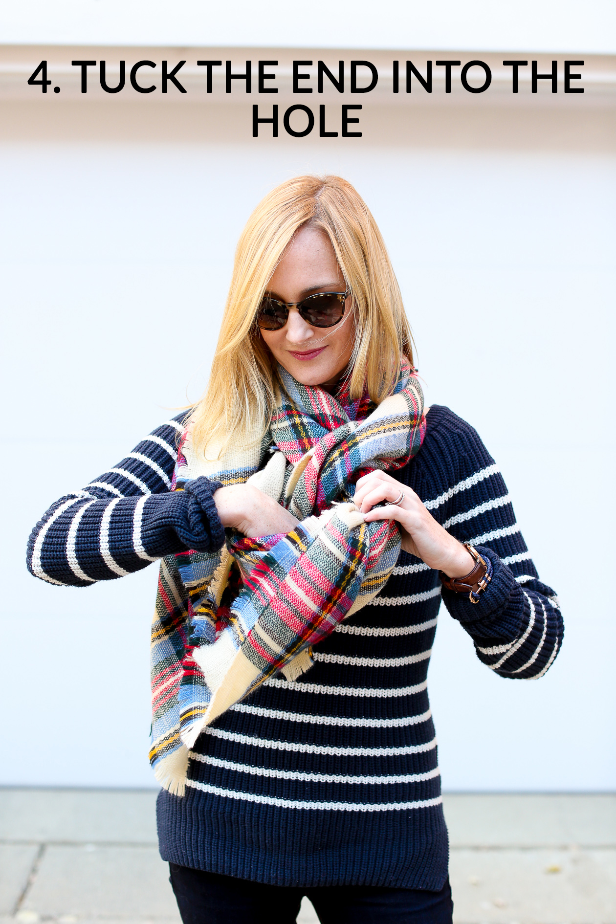 How to tie a blanket scarf-52a
