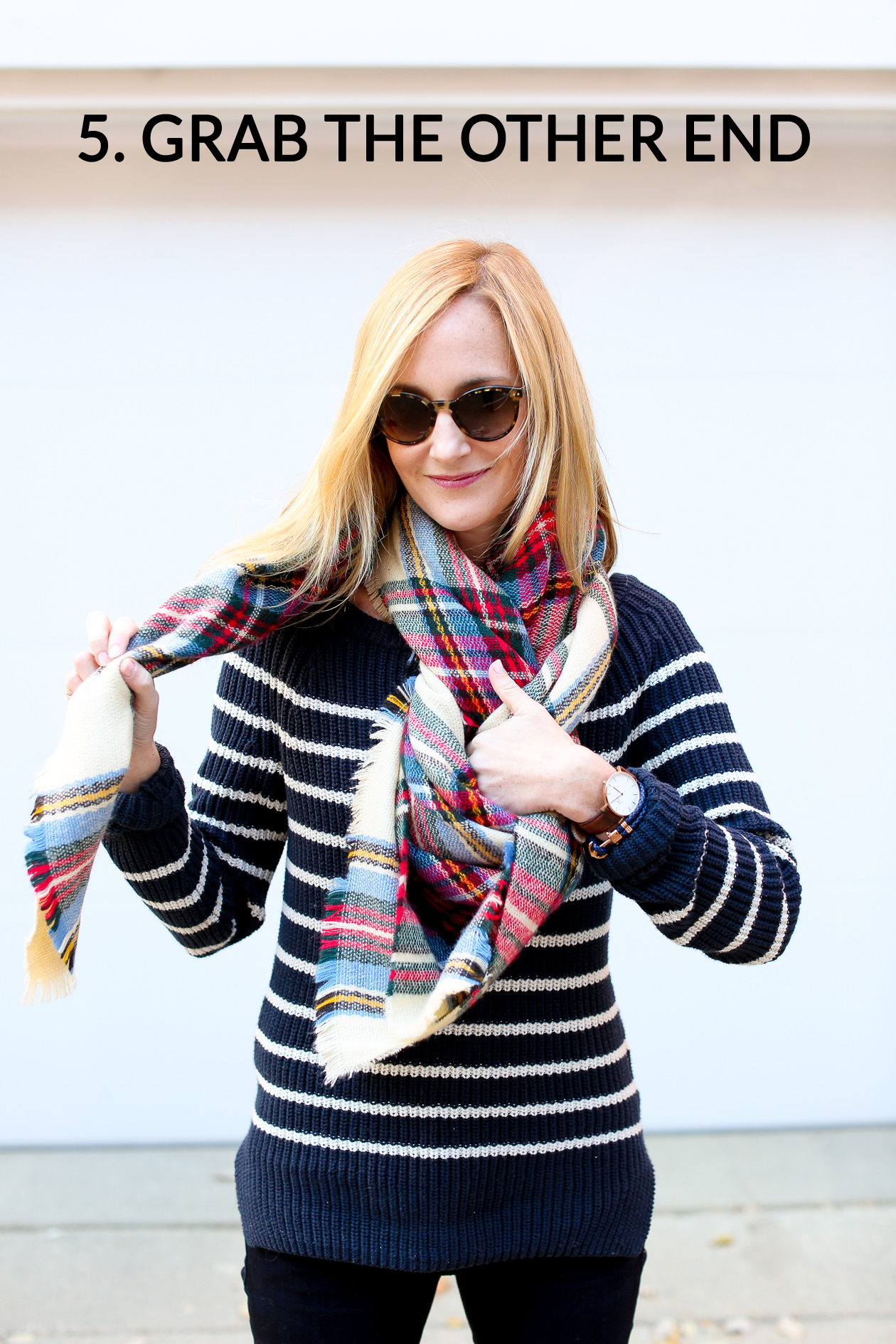 How to tie a blanket scarf-53a