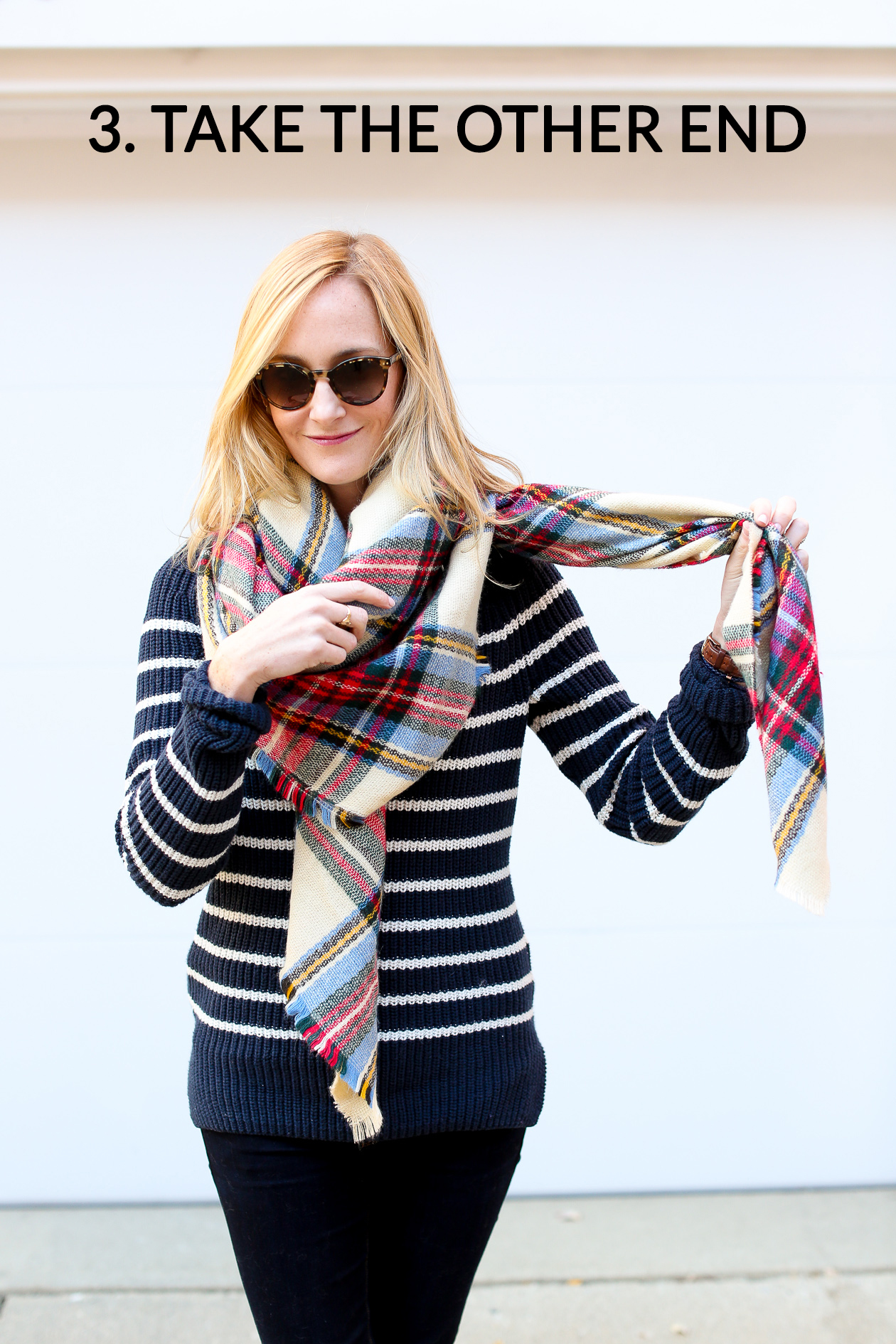 How to tie a blanket scarf-75a