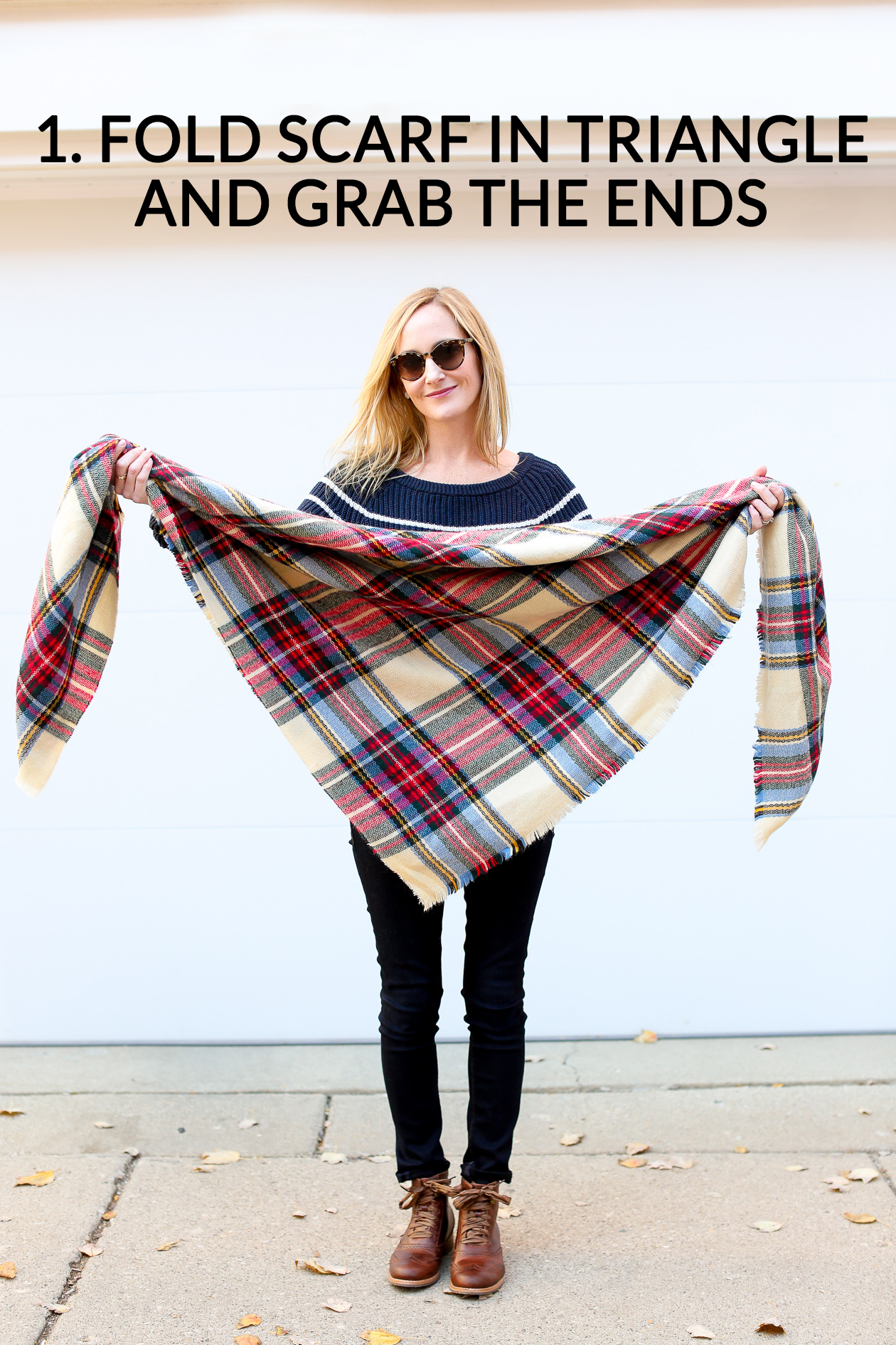 How to tie a blanket scarf-83a