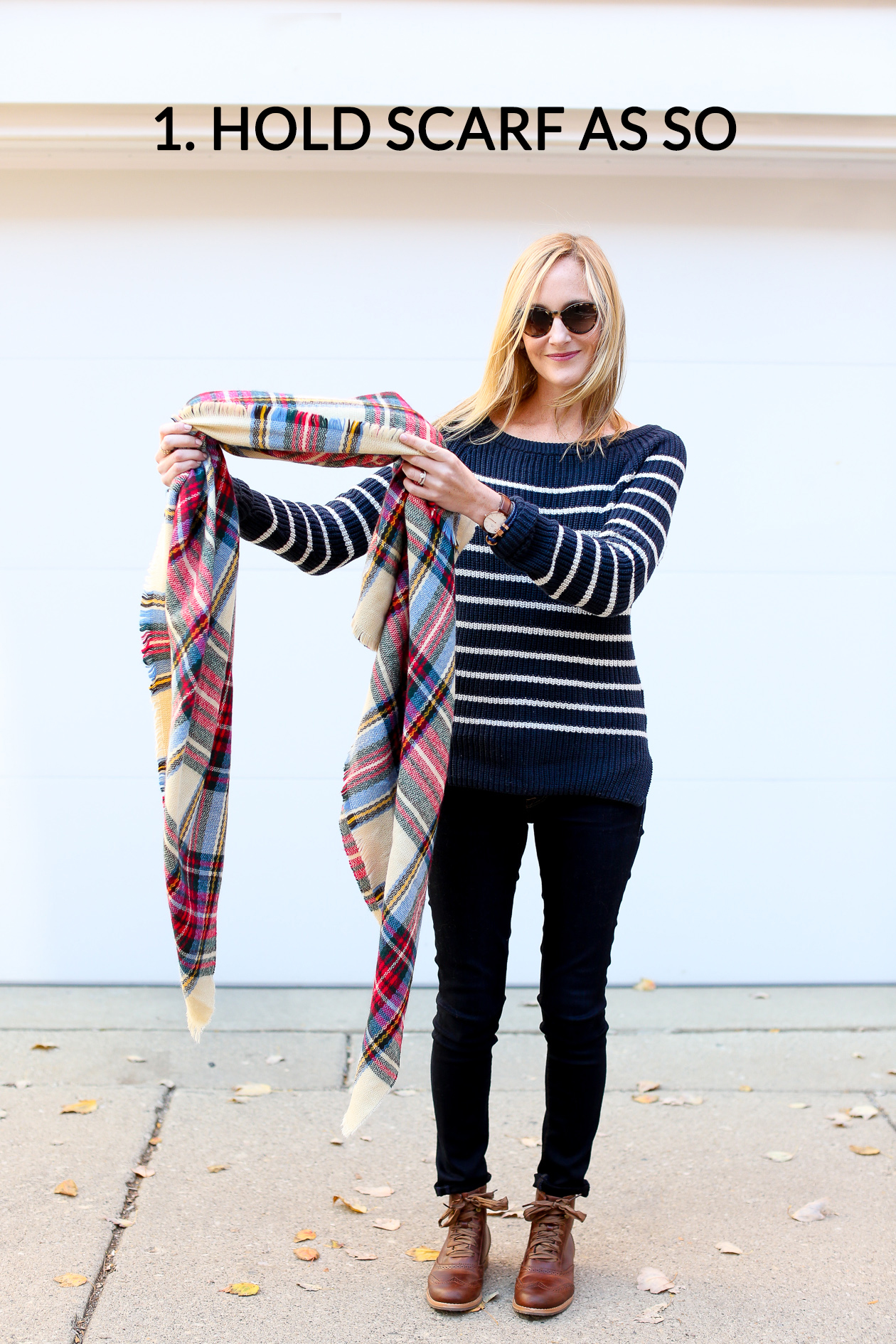 How to tie a blanket scarf-88a