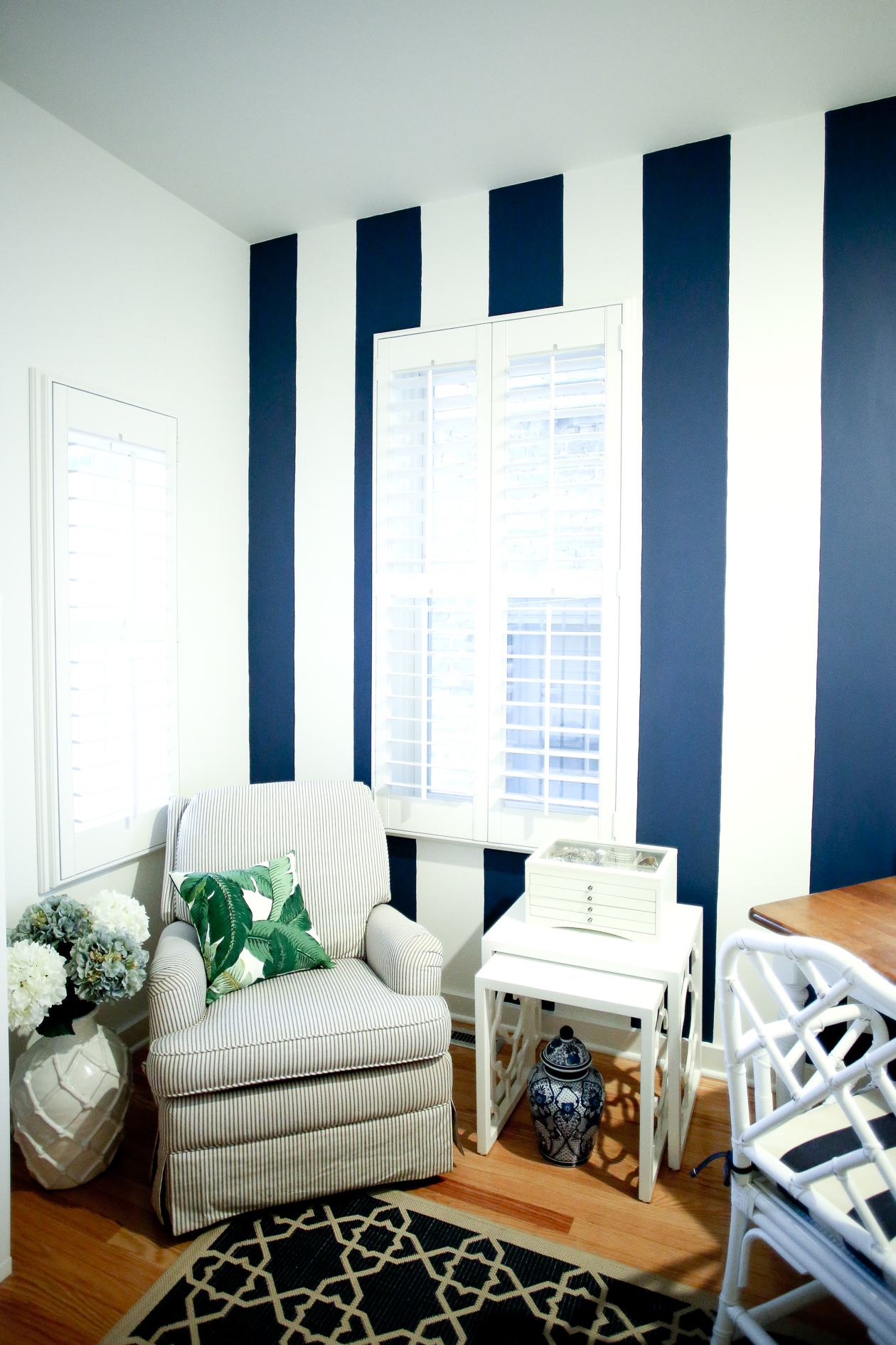 Navy Striped Wall Kelly In The City