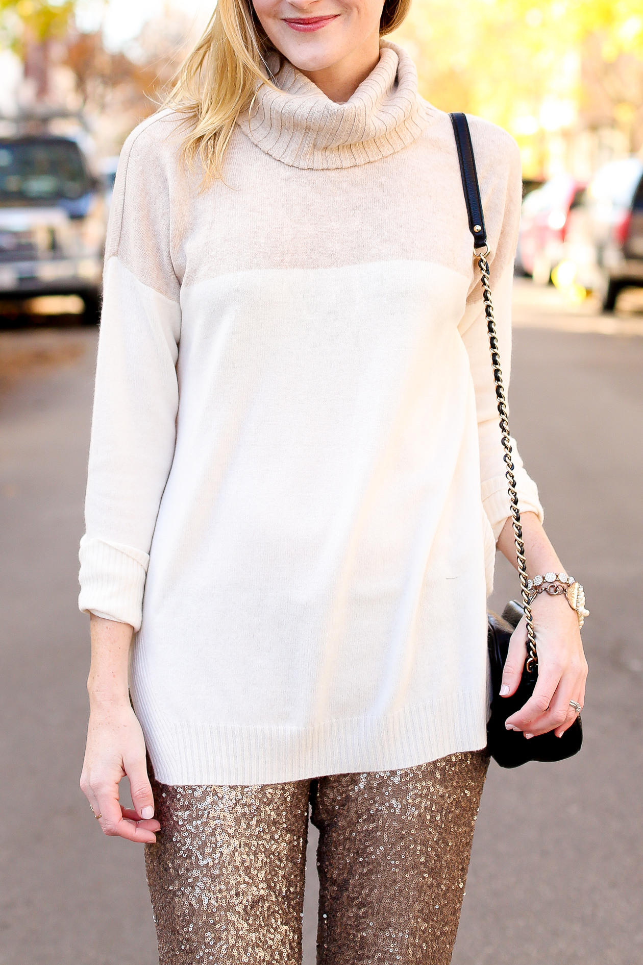 Sequin Dress Pants-100