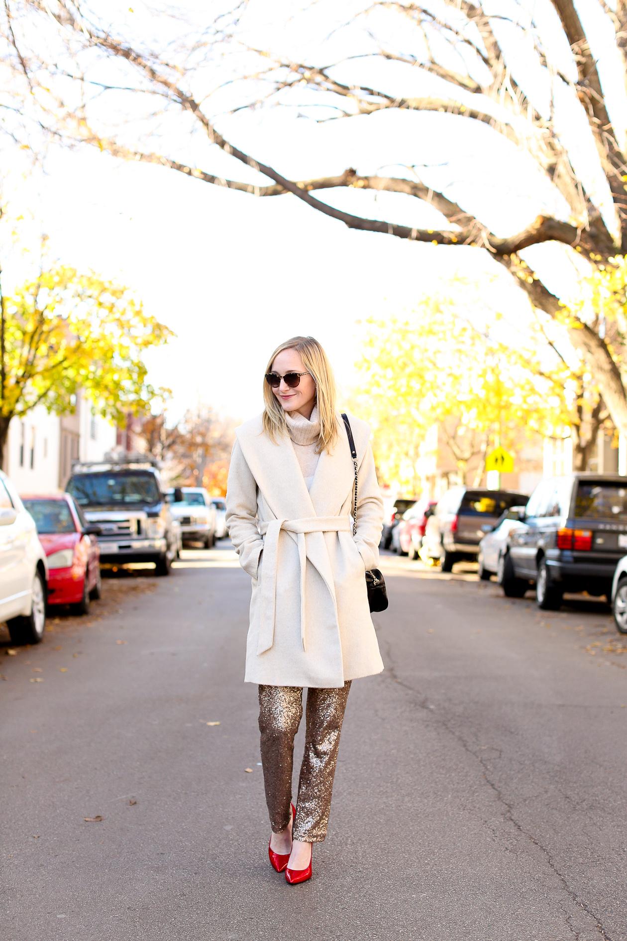 Sequin Dress Pants-3