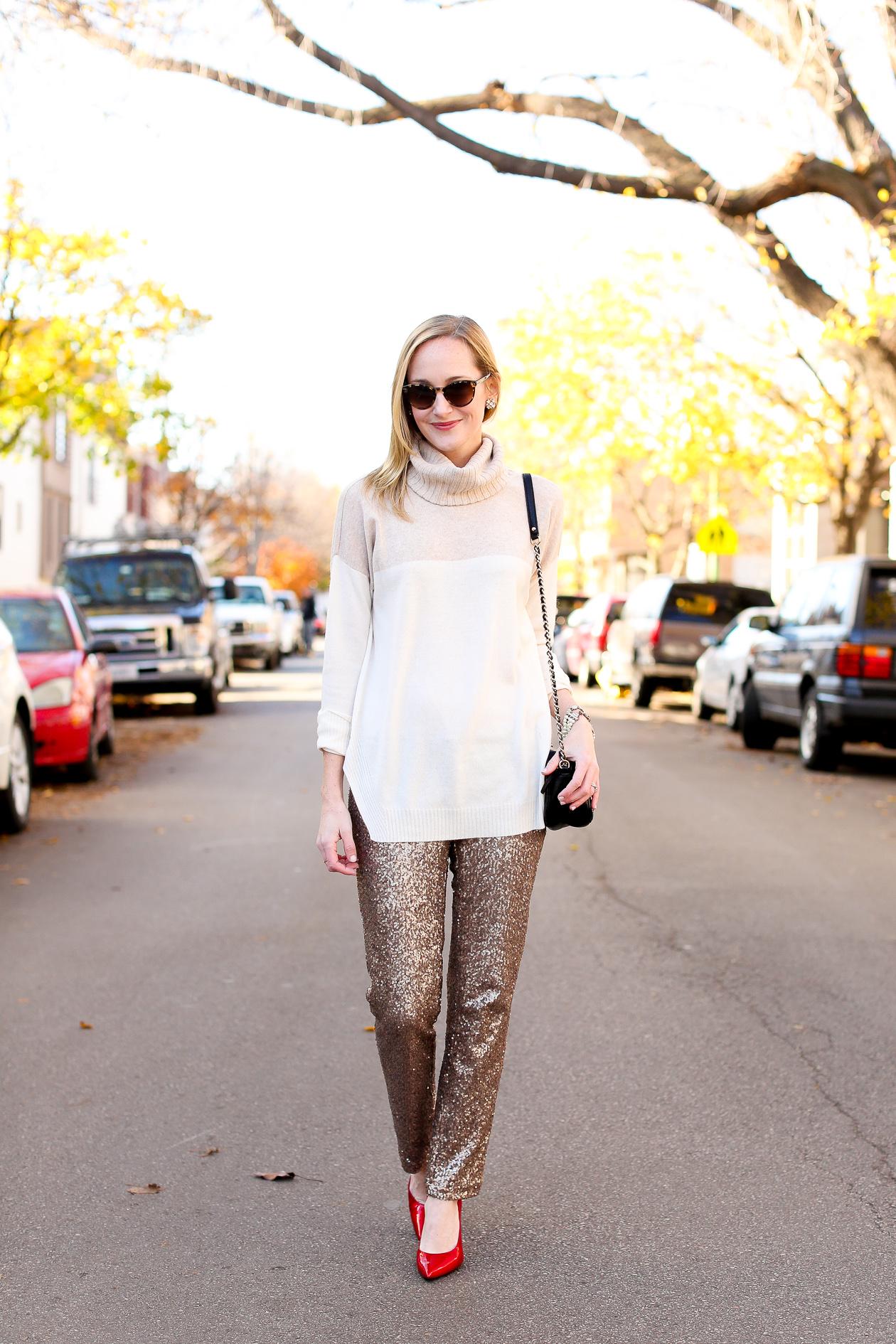 Sequin Dress Pants-33