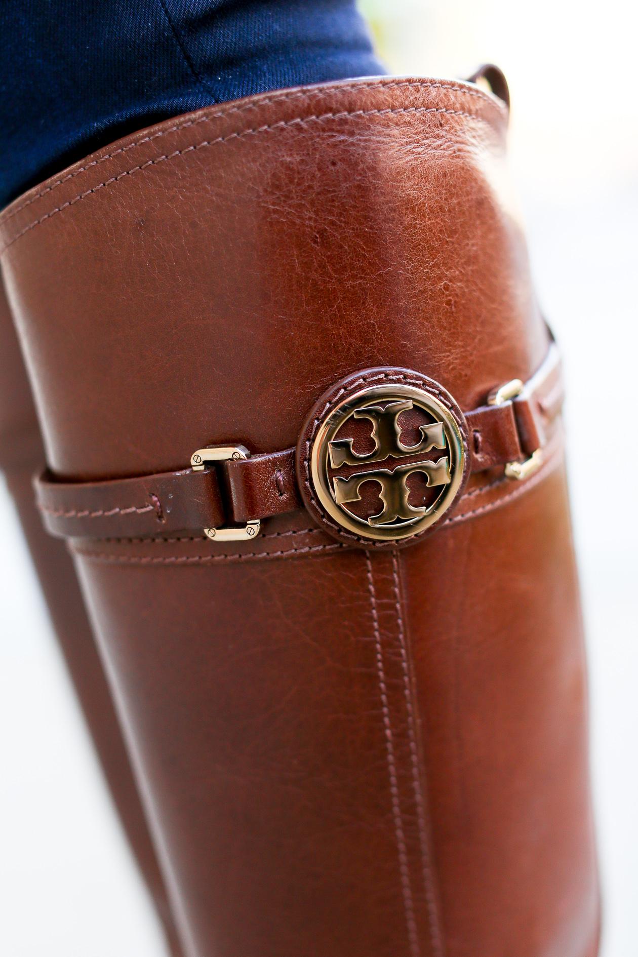 Tory Burch Light Brown Riding Boots-26