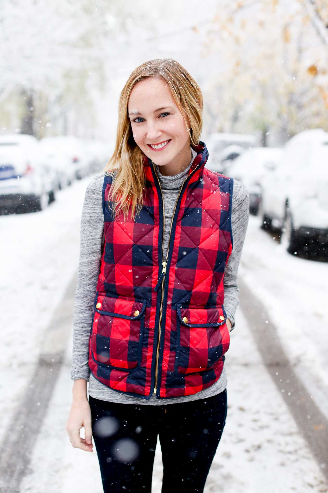 JCrew Buffalo Check Excursion Puffer Vest-42