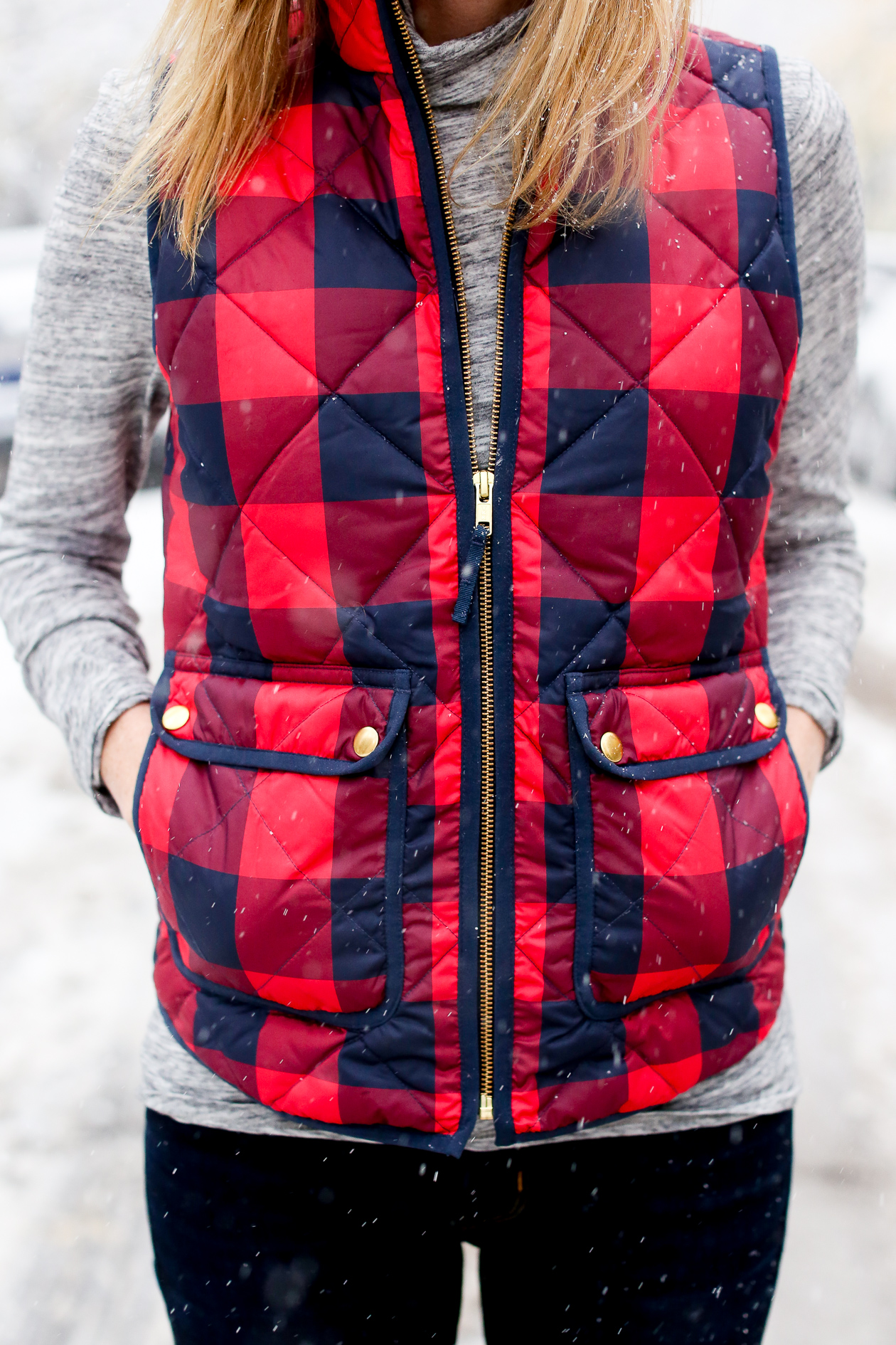 JCrew Buffalo Check Excursion Puffer Vest-8