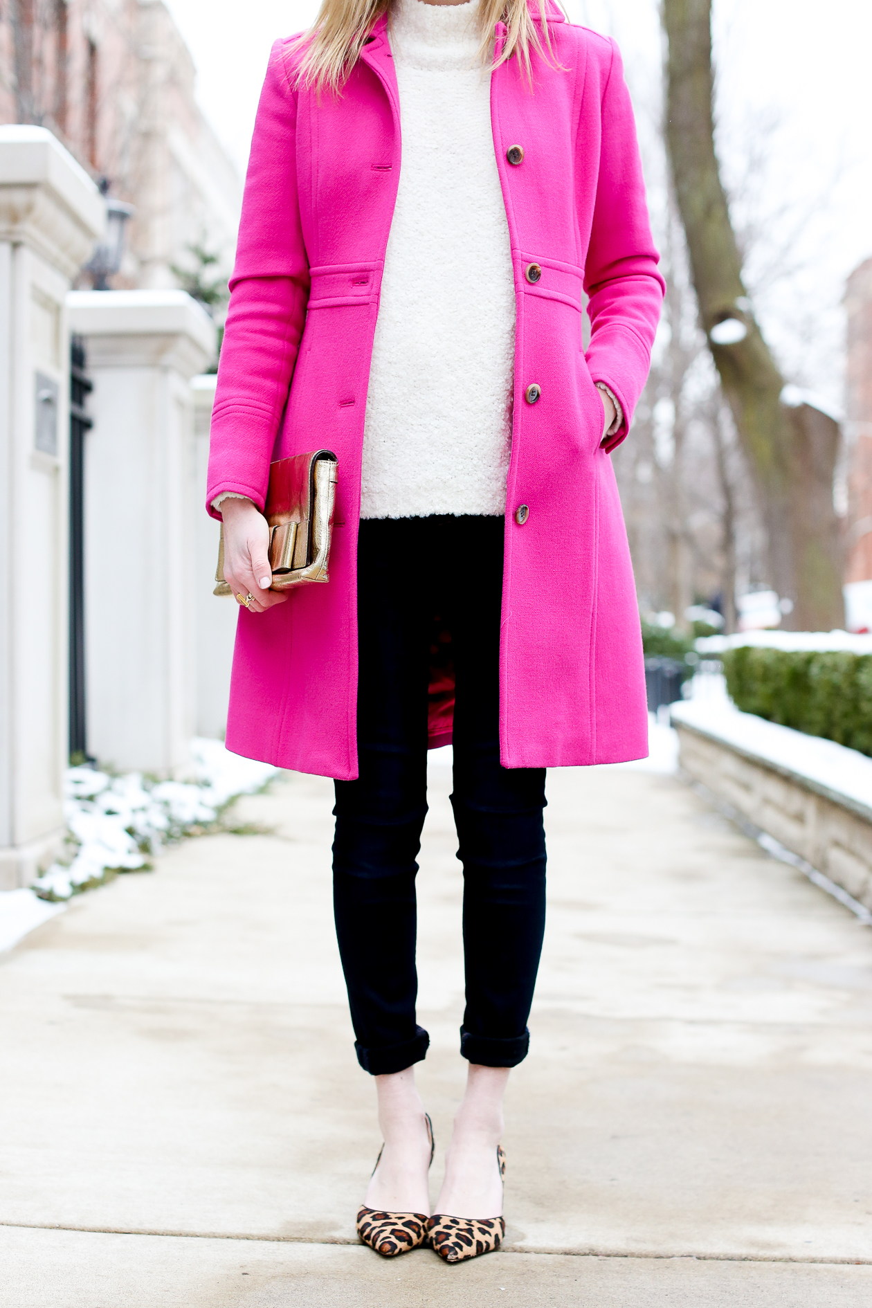 Hot Pink Wool Coat Coat Racks