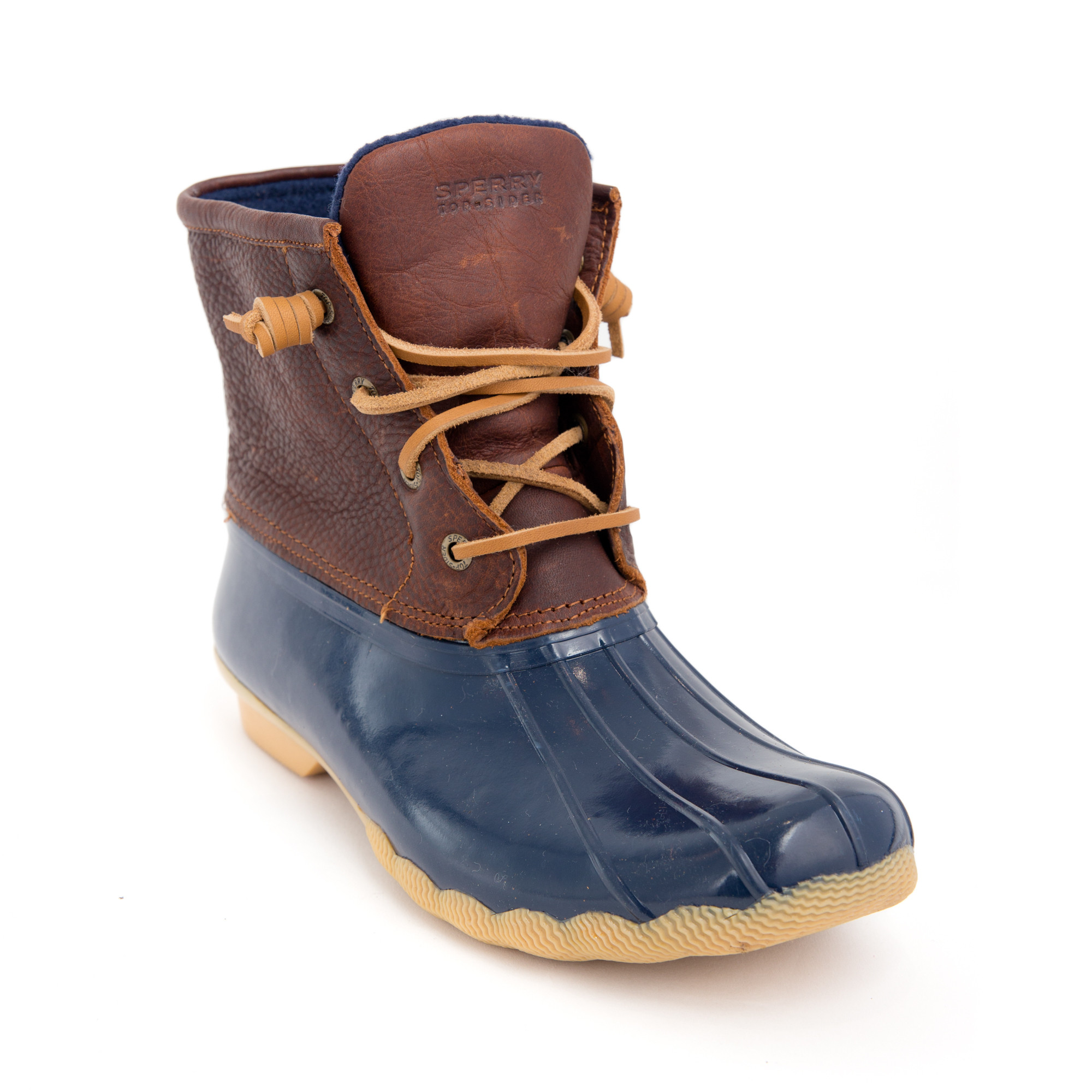 Sperry-Saltwater-Duck-Boots-Tan-Navy-1