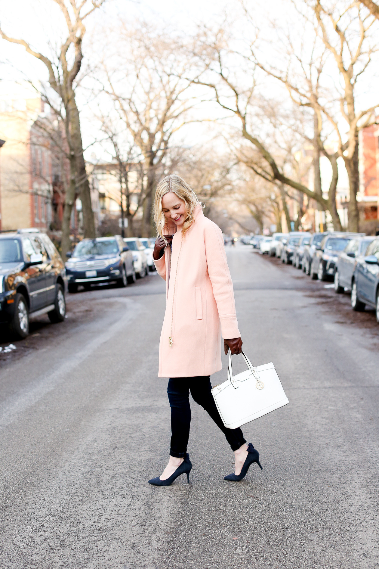 j.crew pink cocoon coat chicago fashion blogger-33