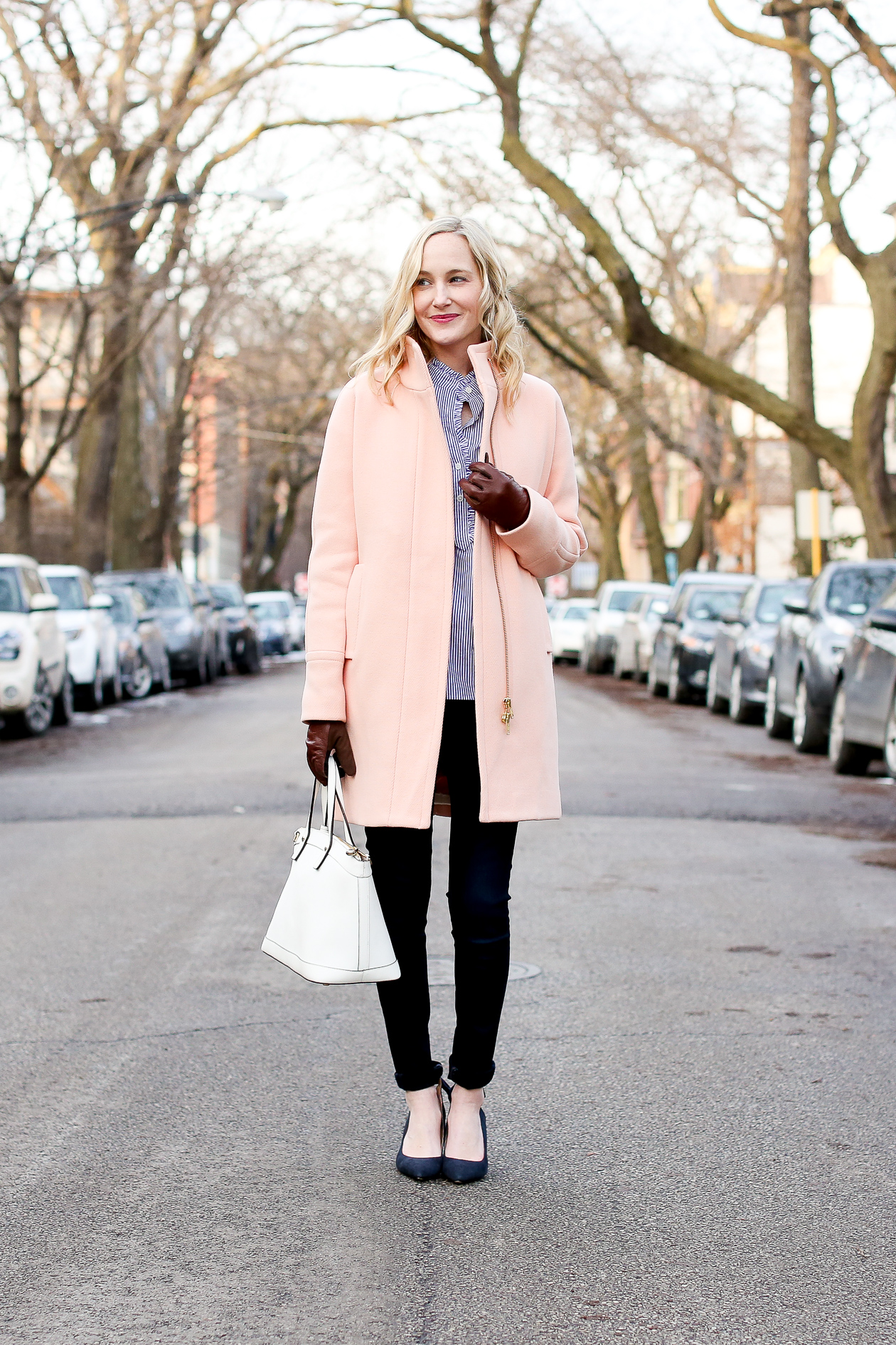 j.crew pink cocoon coat chicago fashion blogger-600