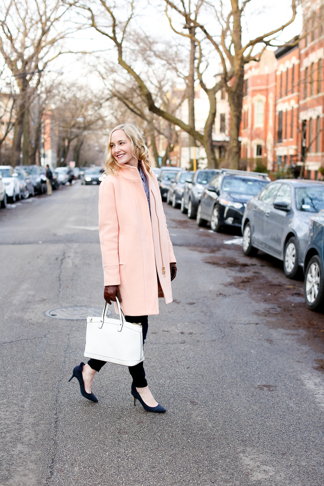 j.crew pink cocoon coat chicago fashion blogger-63