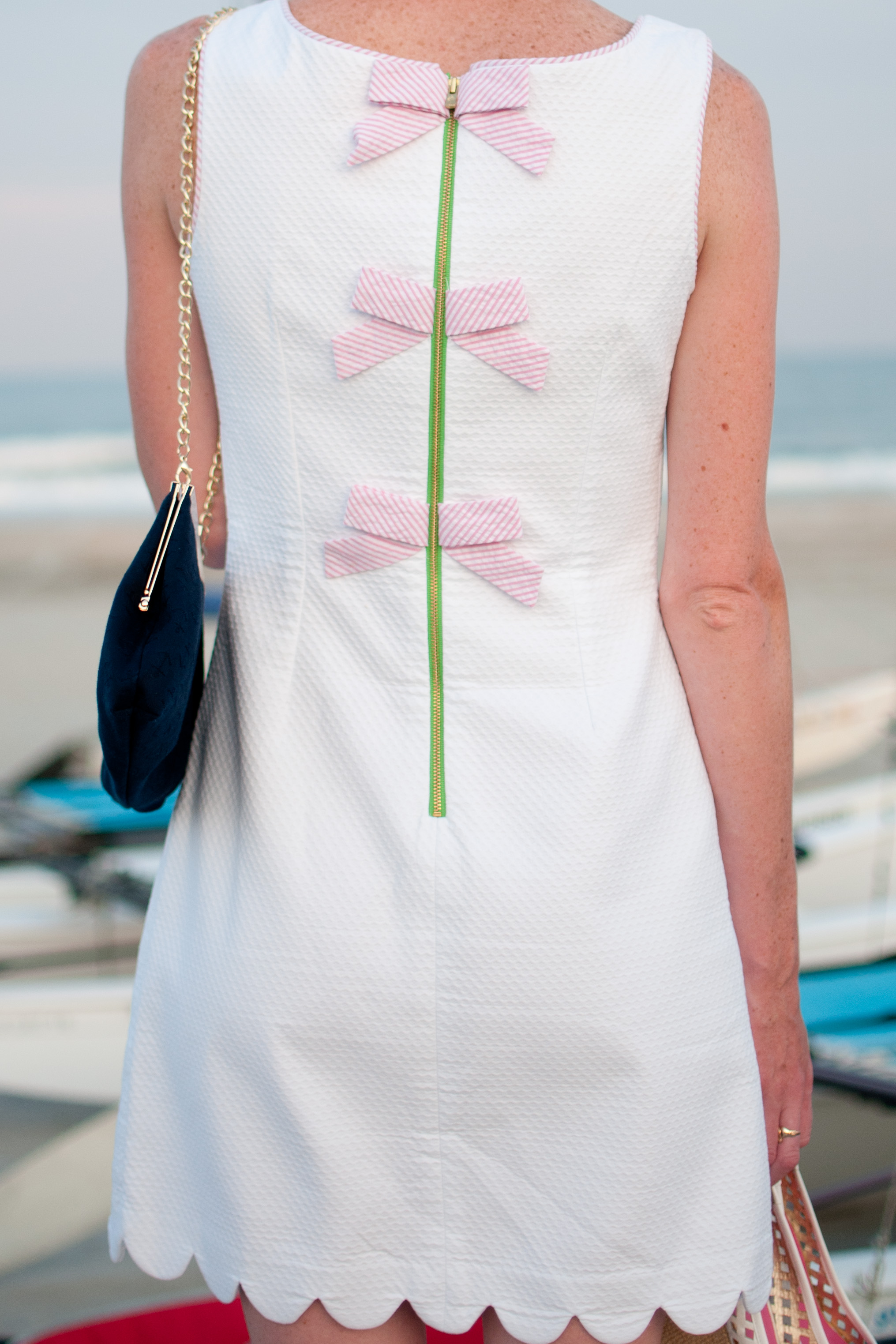 lilly pulitzer scalloped bow dress