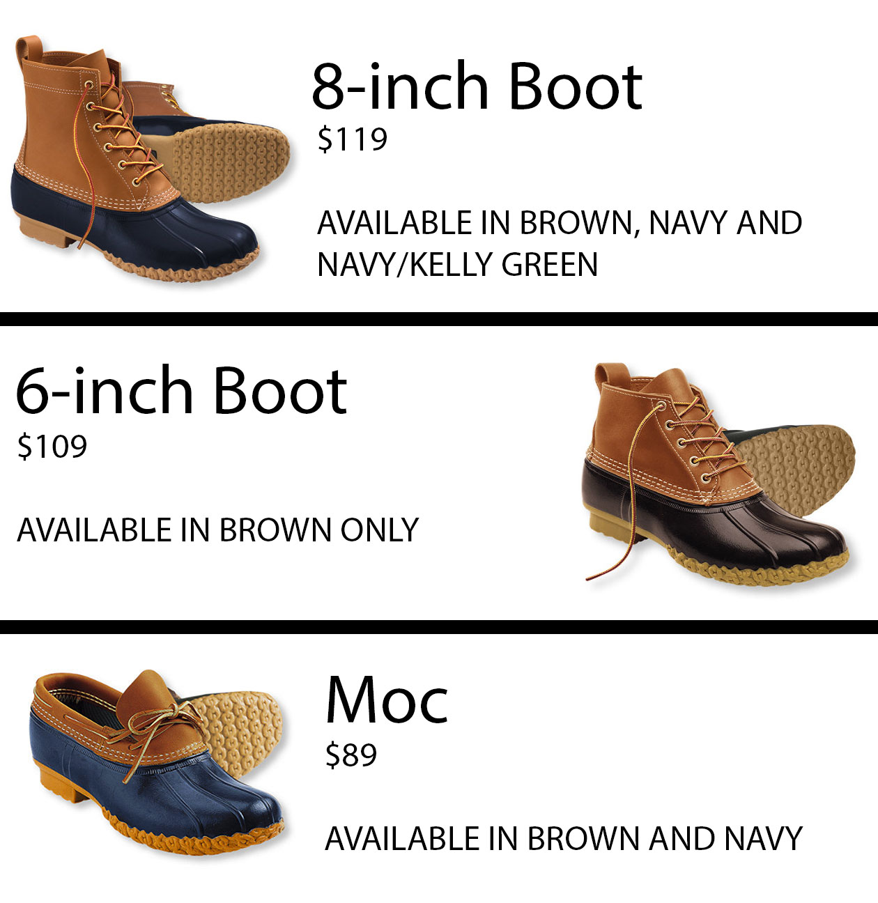 tips for buying bean boots