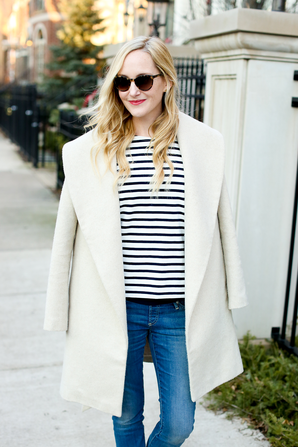 J.Crew Striped Bow Top Chicago Fashion Blogger-10