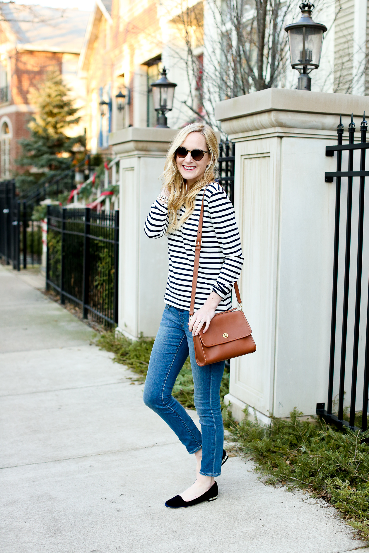 J.Crew Striped Bow Top Chicago Fashion Blogger-18
