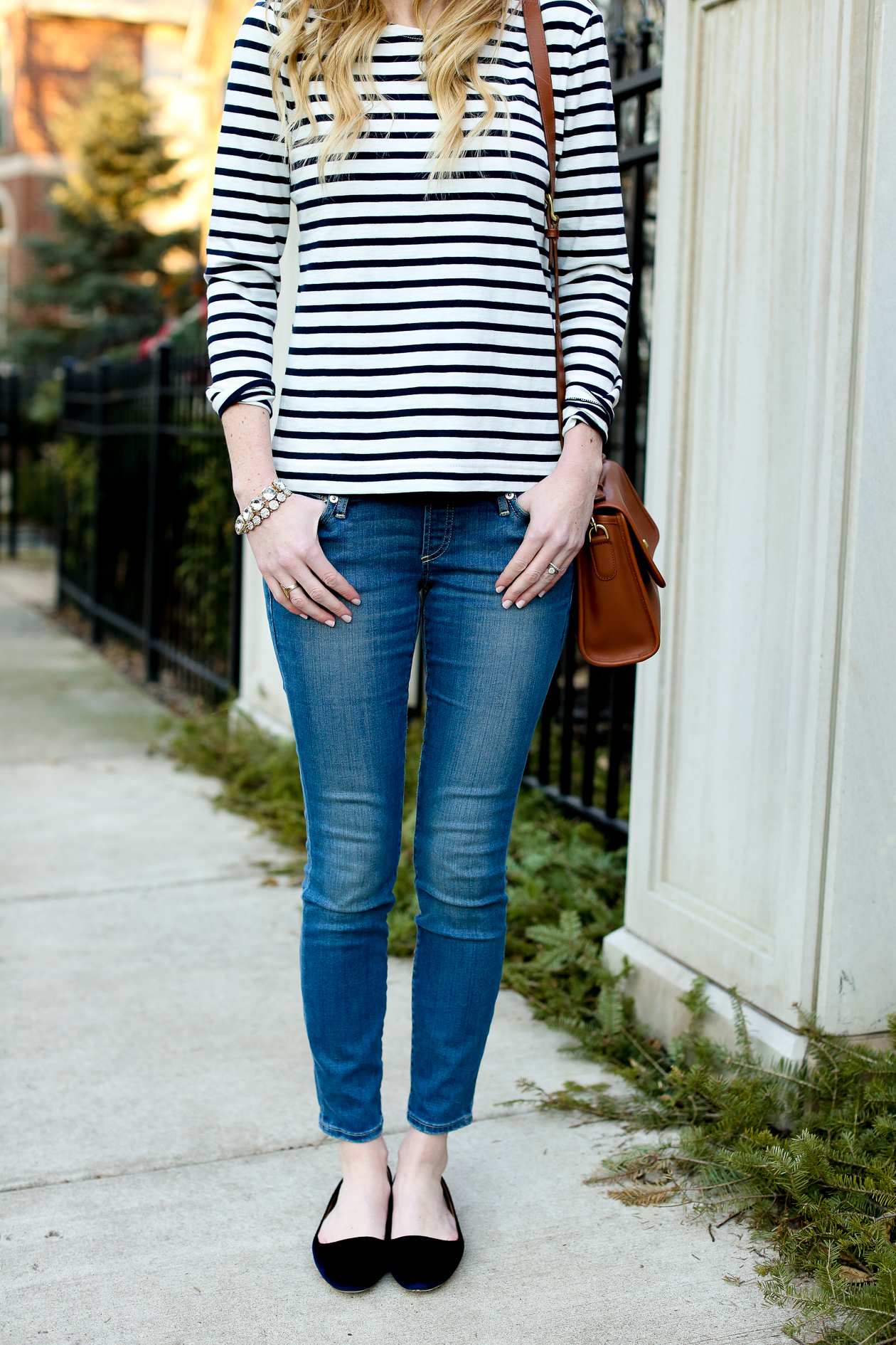 J.Crew Striped Bow Top Chicago Fashion Blogger-26