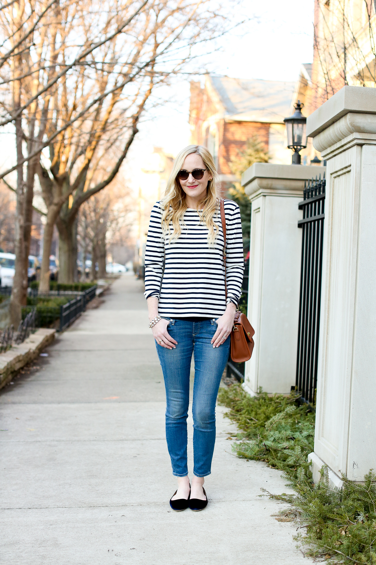 J.Crew Striped Bow Top Chicago Fashion Blogger-31
