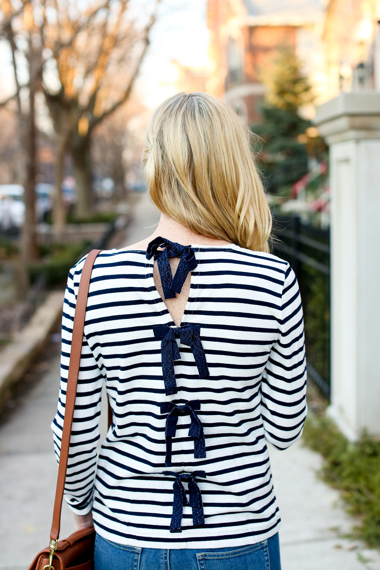 J.Crew Striped Bow Top Chicago Fashion Blogger-44