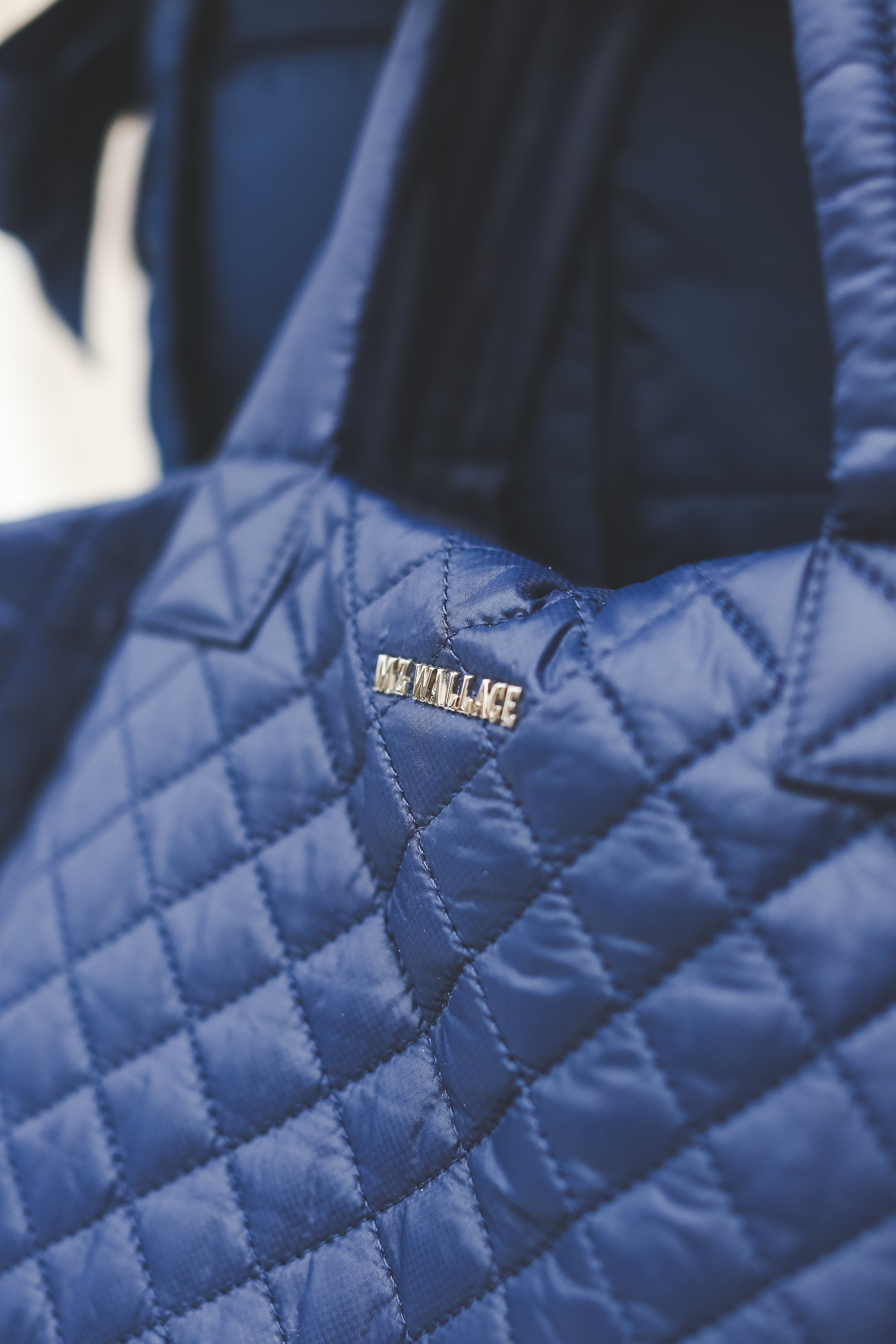 MZ Wallace Quilted Tote Navy-8