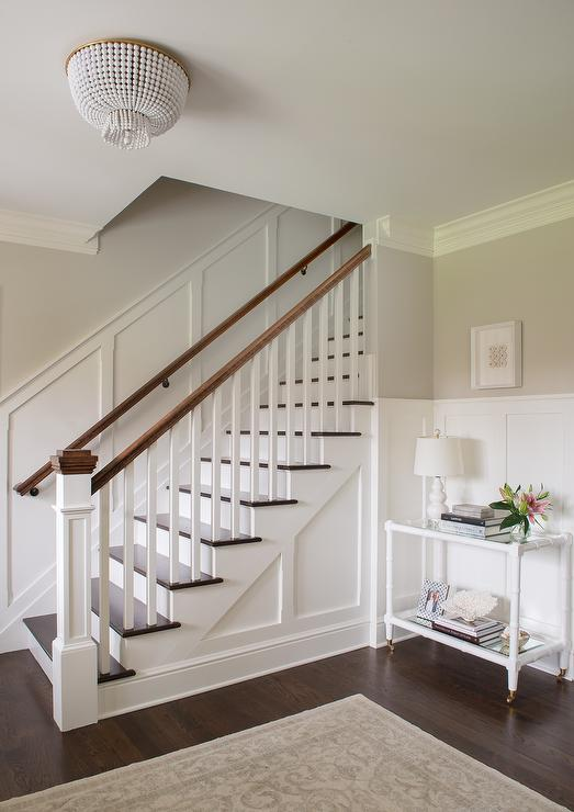 staircase-board-and-batten-white-bamboo-console-table-jacqueline-flush-mount