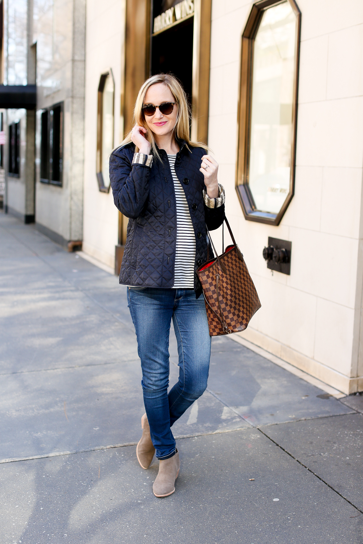 Burberry Quilted Navy Jacket Ashurst-4