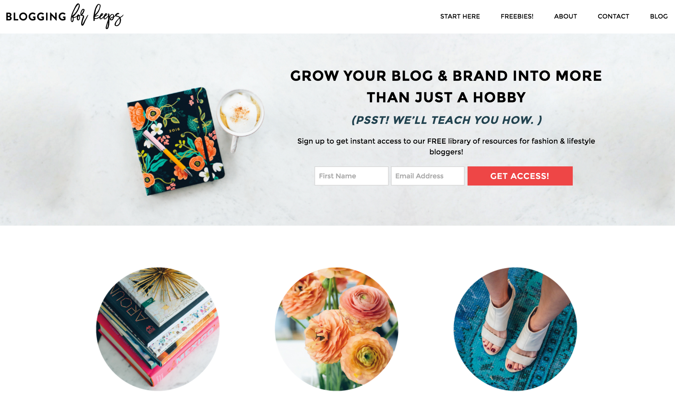 blogging for keeps website