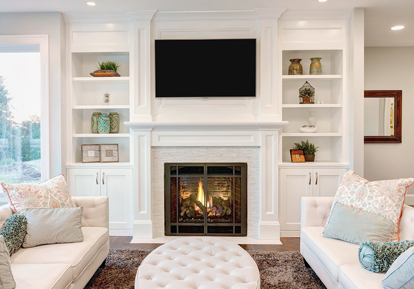 Fireplace Inspiration - Kelly In The City