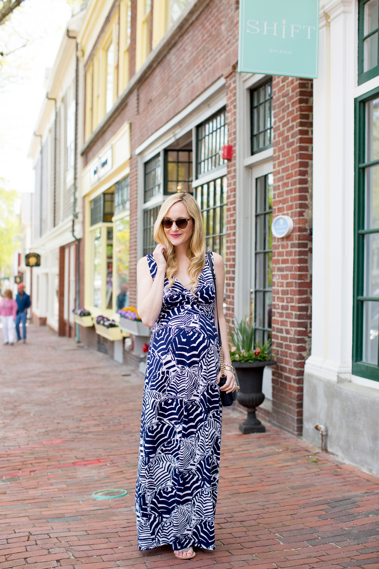 Lilly Pulitzer Sloane Maxi Dress Maternity Pregnancy-9