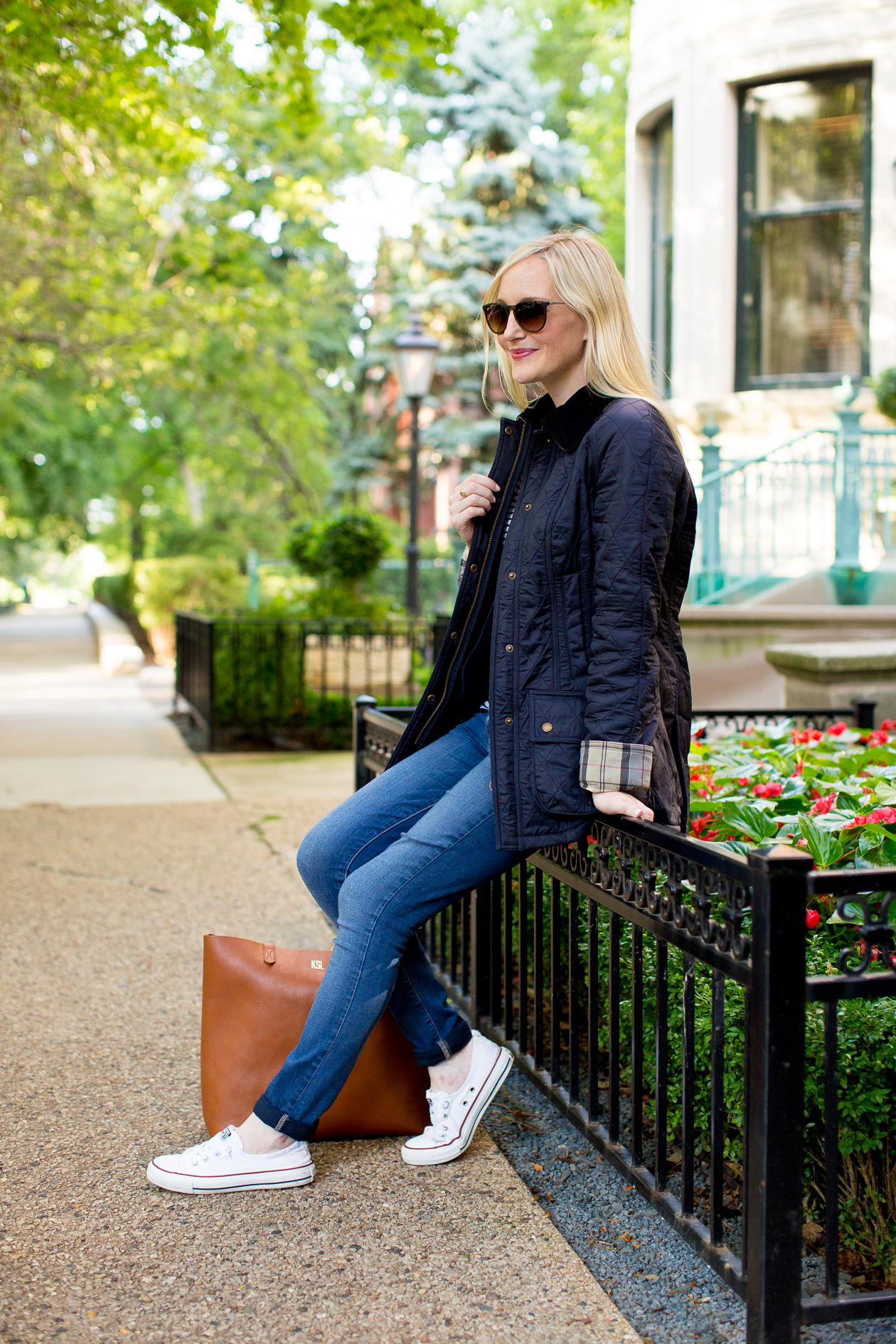 b908f3d2412 Barbour Quilted Beadnell - Kelly in the City