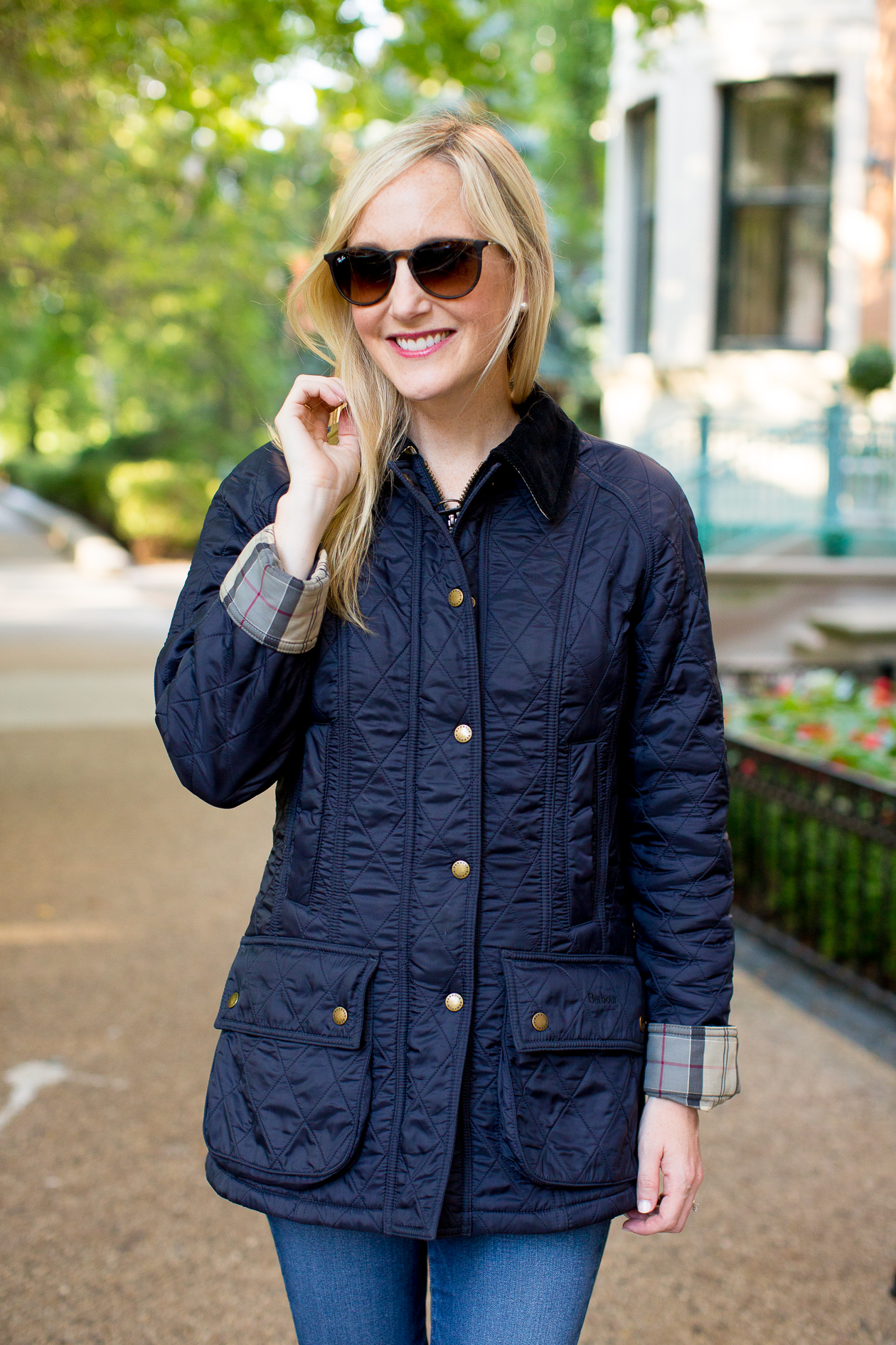 Barbour Quilted Beadnell Kelly In The City