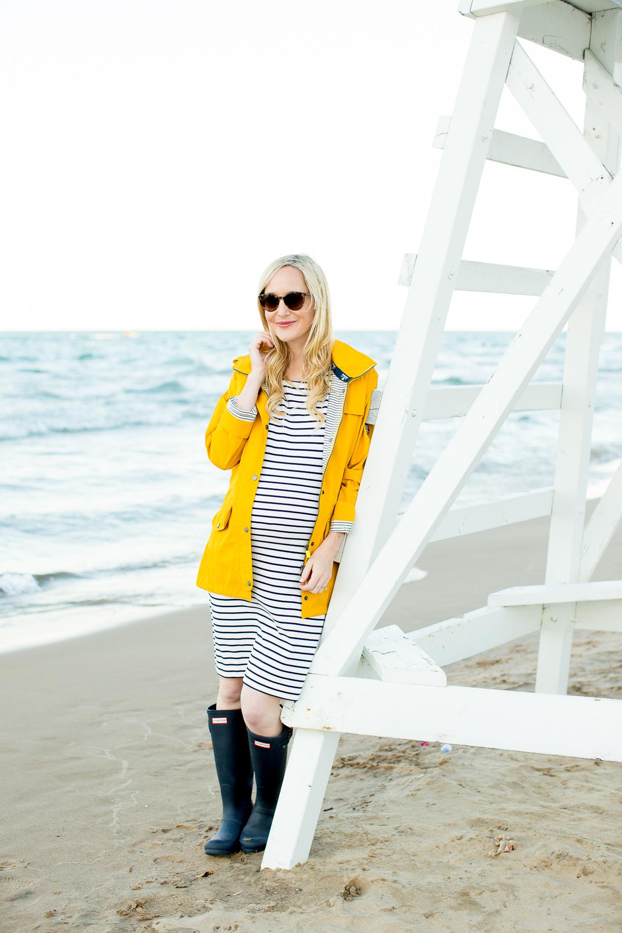Barbour Trevose Yellow Raincoat-86