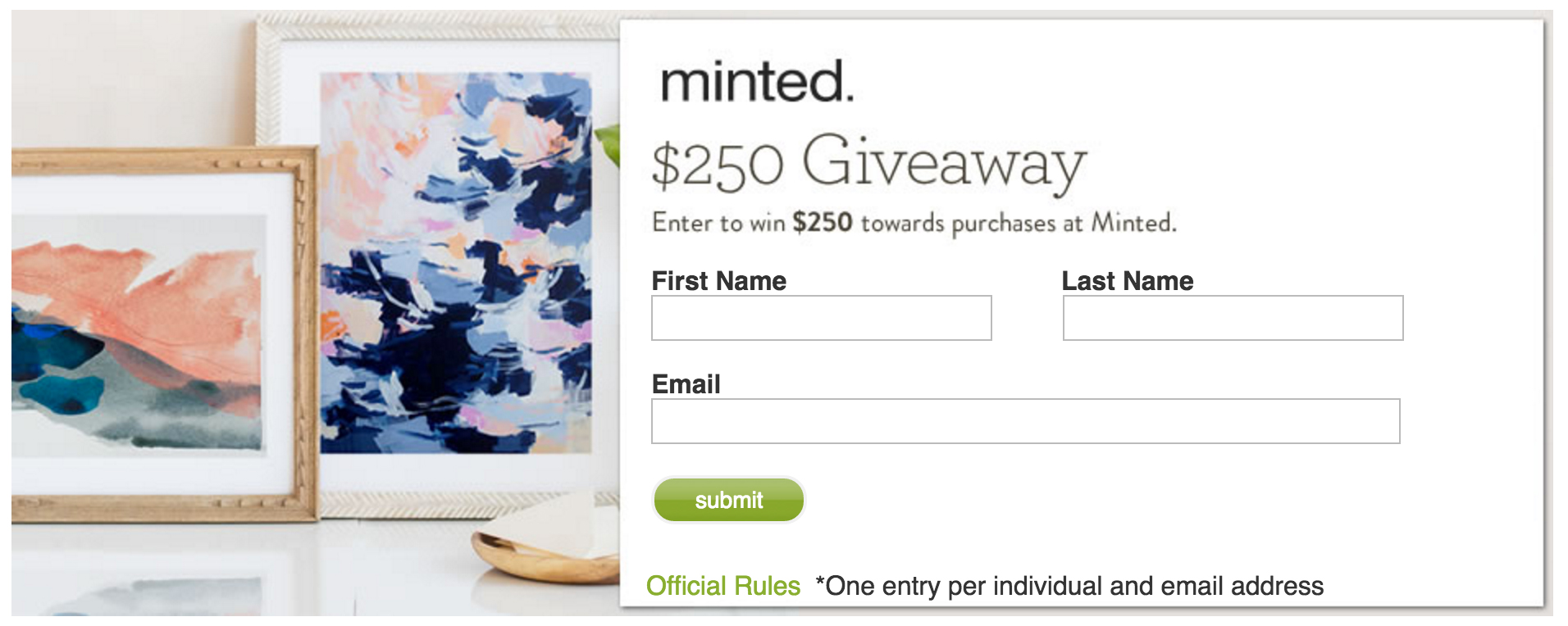 Kelly in the city minted giveaway