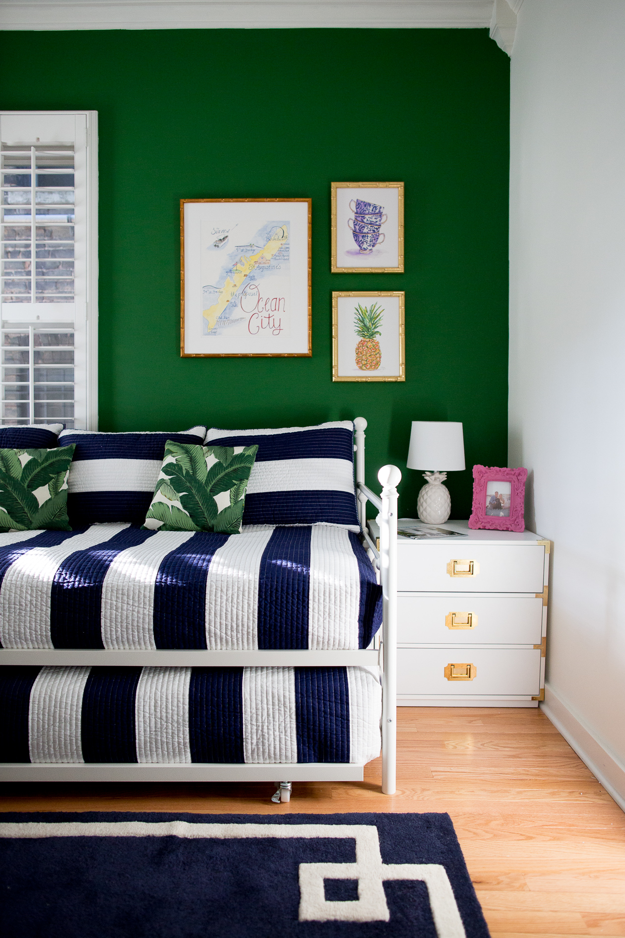 preppy-green-walls-gold-frames-29