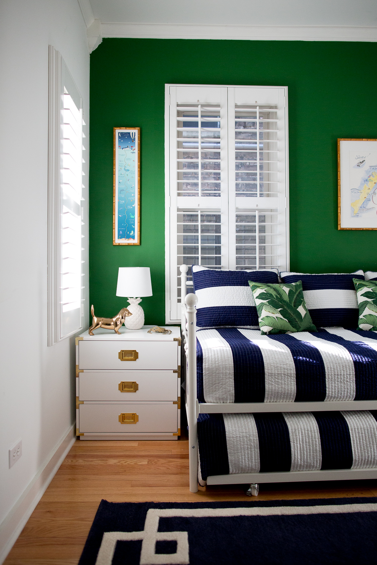 preppy-green-walls-gold-frames-30