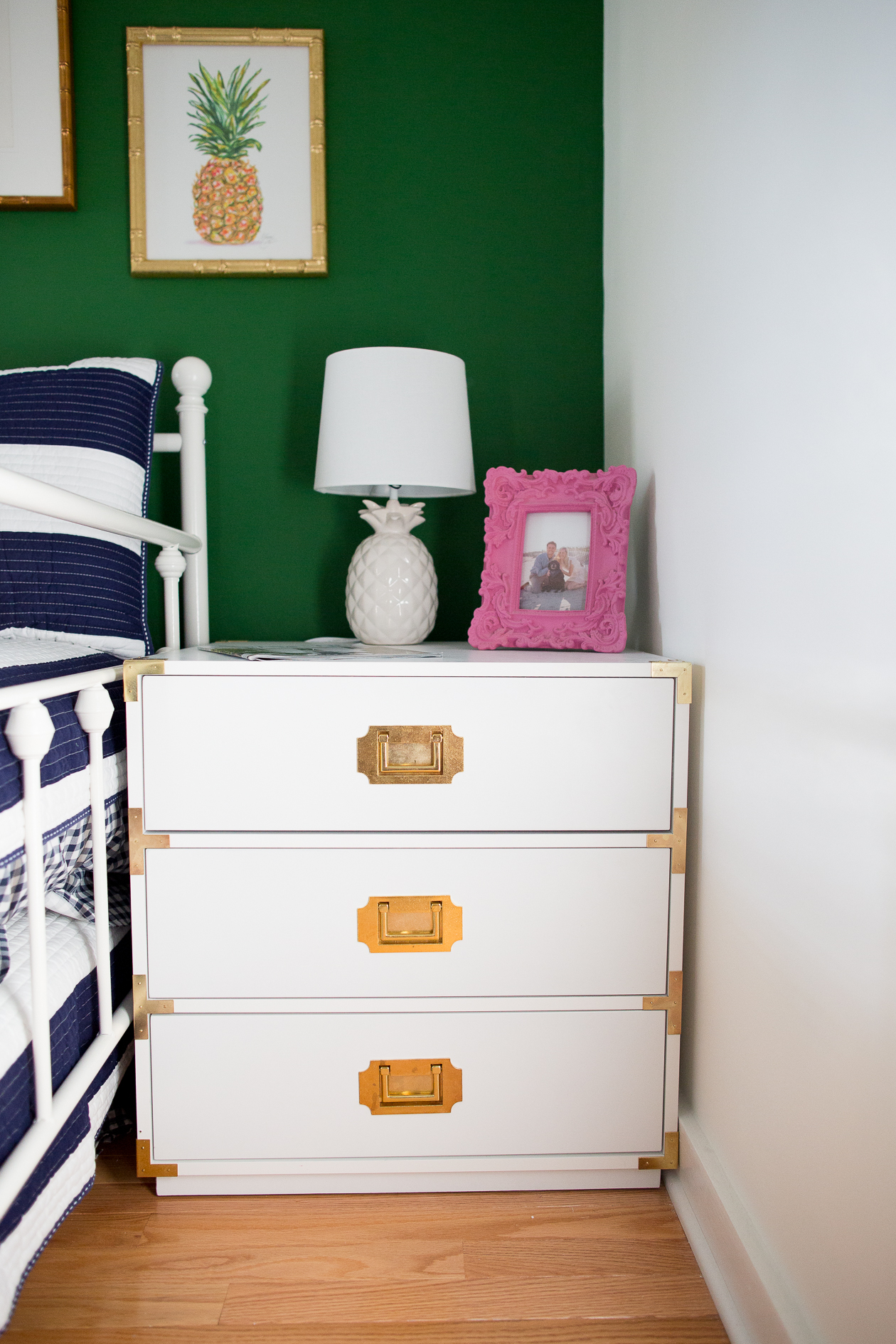 preppy-green-walls-gold-frames-9