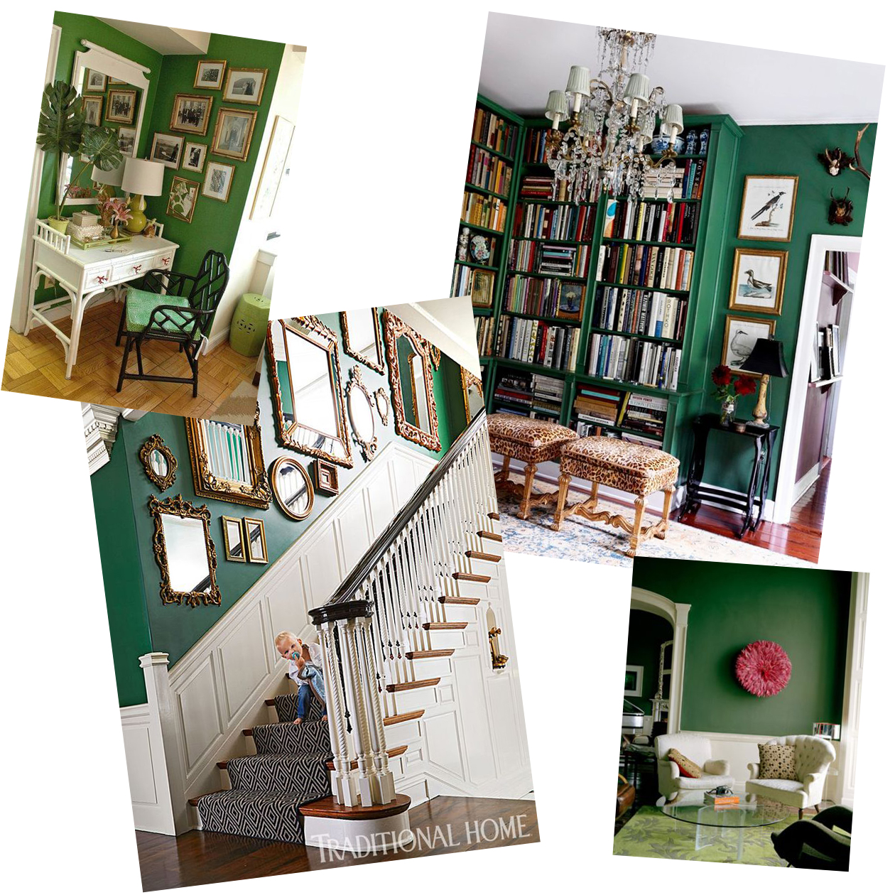 dark green wall inspiration