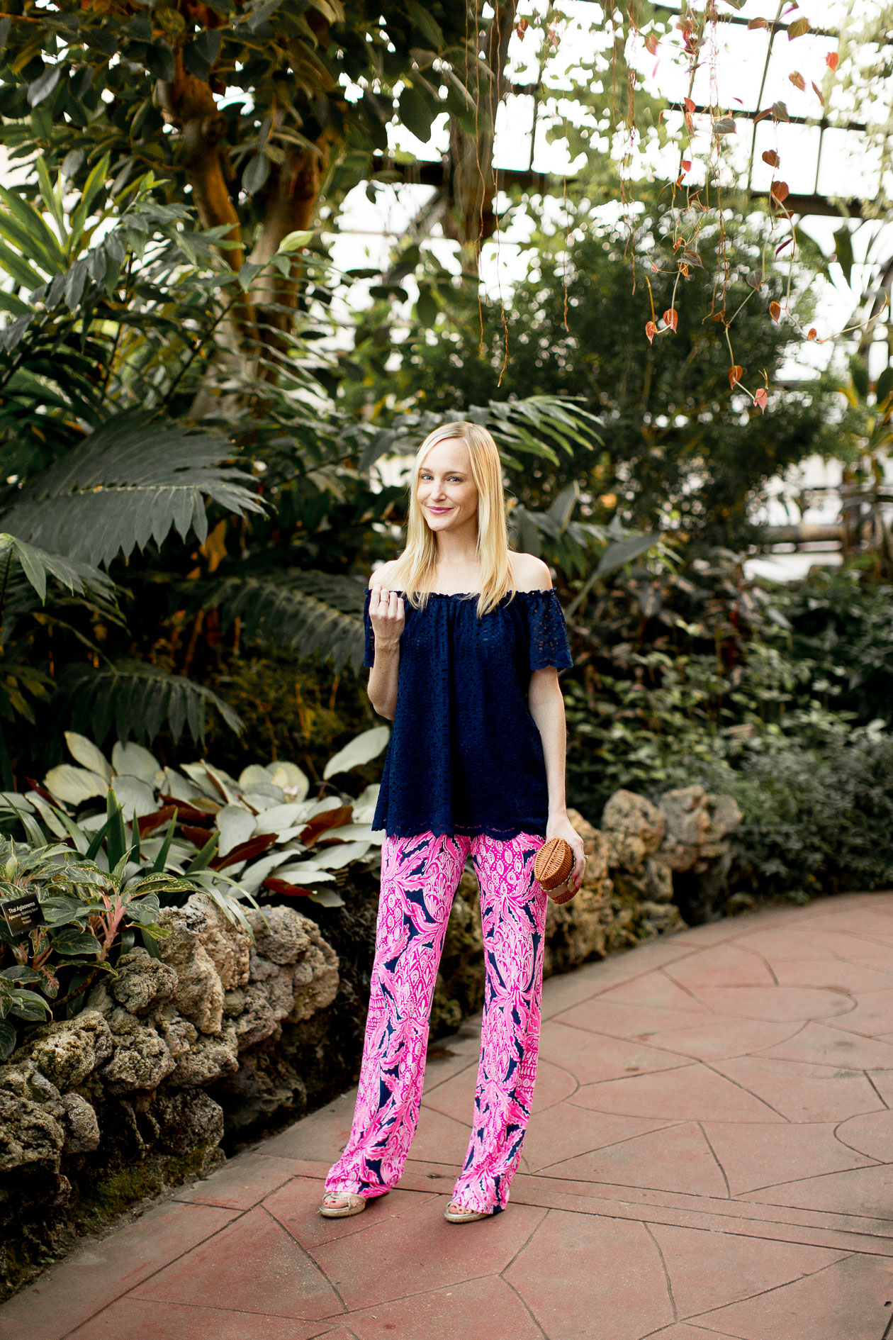 Lilly Pulitzer Pants, Off-the-ShoulderTop - Kelly in the City