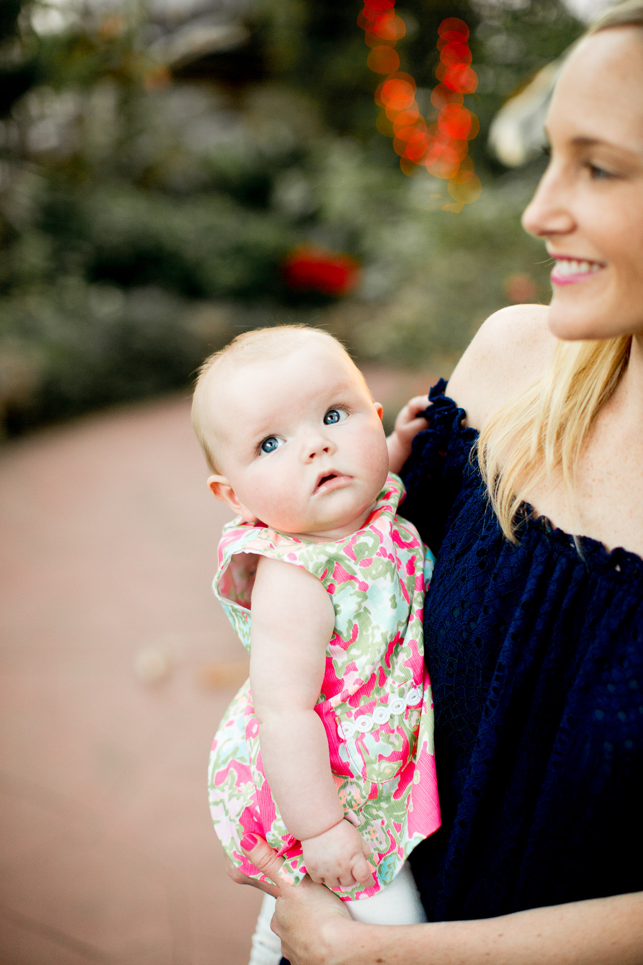Baby Emma is wearing Lilly Pulitzer - Kelly in the City