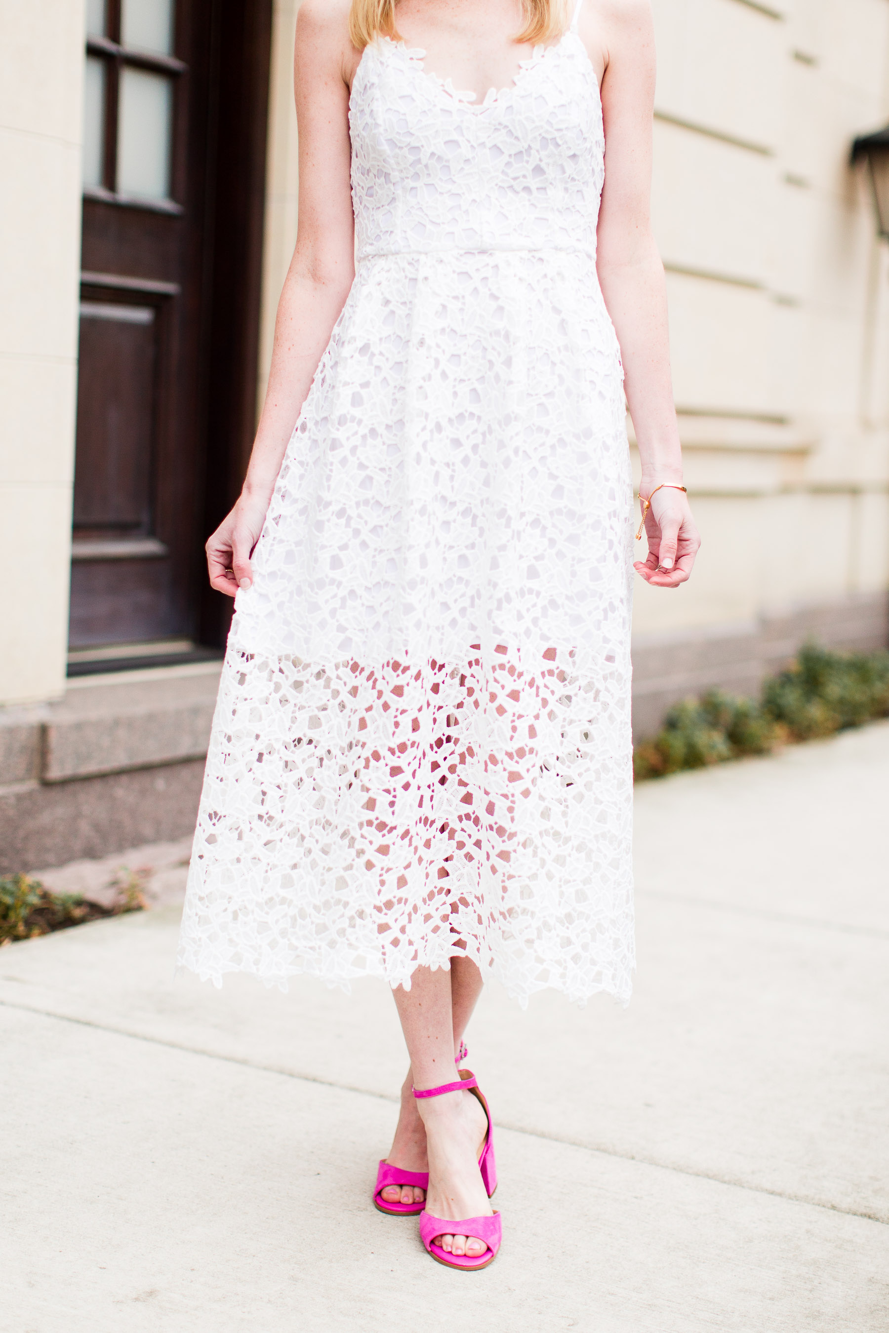 Astr Lace Midi Dress Kelly In The City