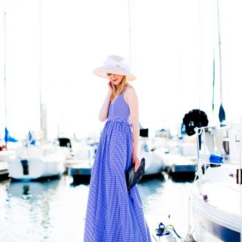 J.Crew Gingham Maxi Dress