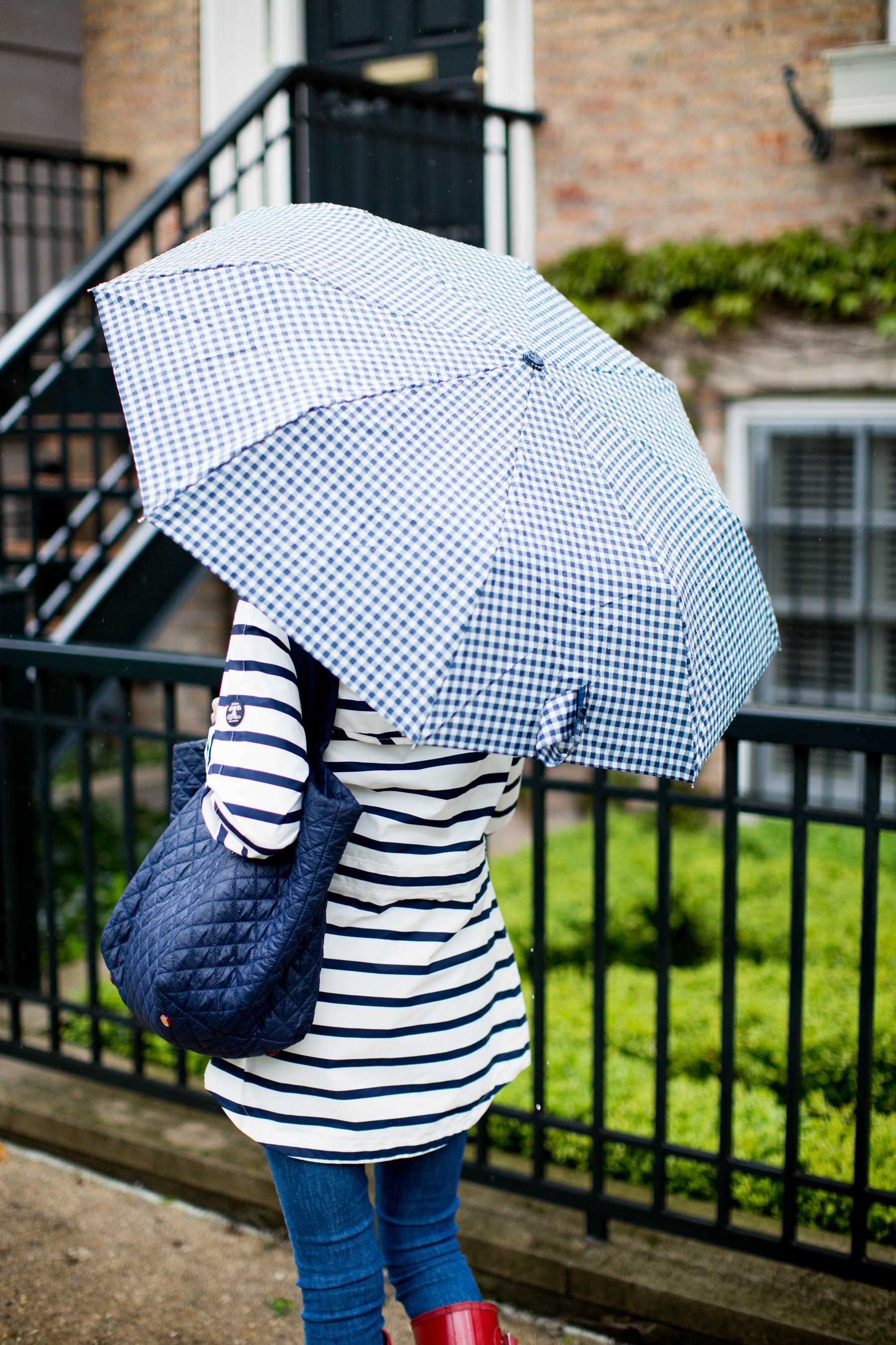 Gingham Umbrella