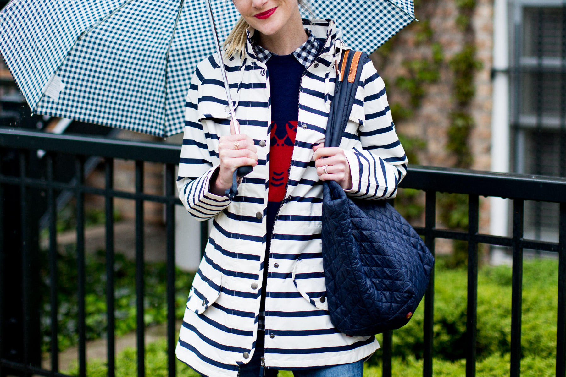 Barbour Trevose Stripe Raincoat c/o Tuckernuck