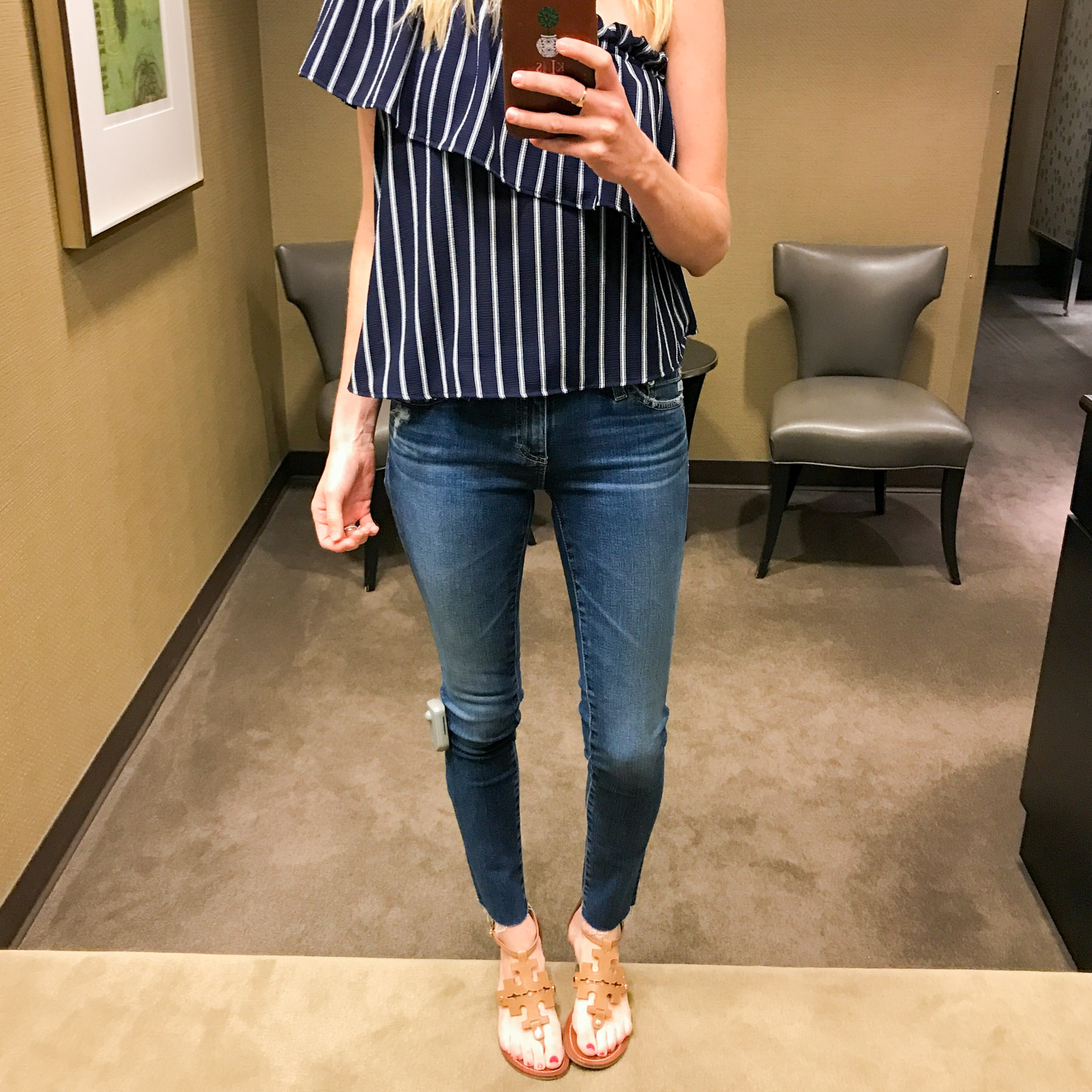 The Legging Raw Ankle Skinny Jeans