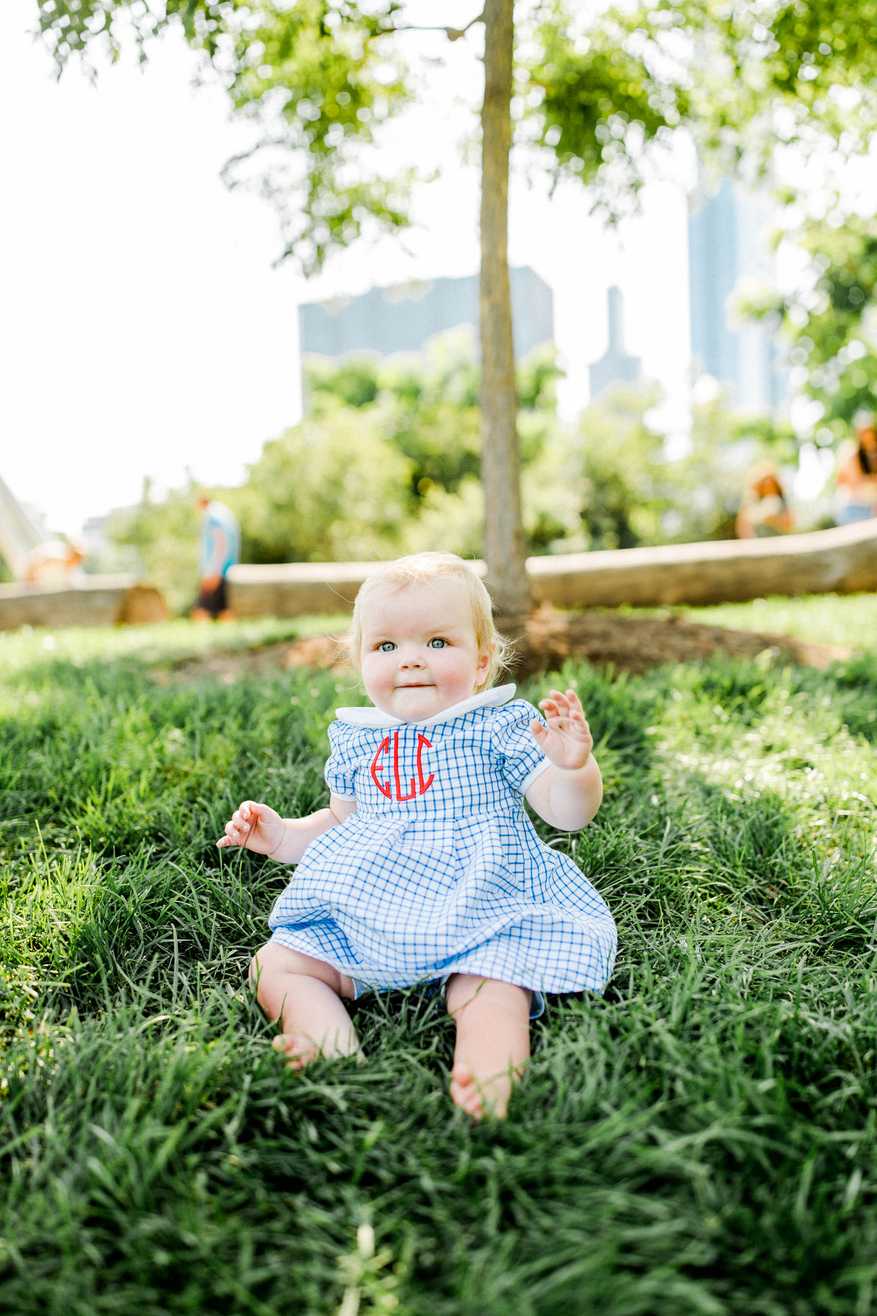 baby monogrammed dress