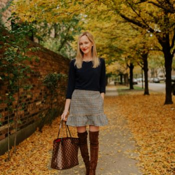 The Perfect Pearls & Houndstooth Skirt