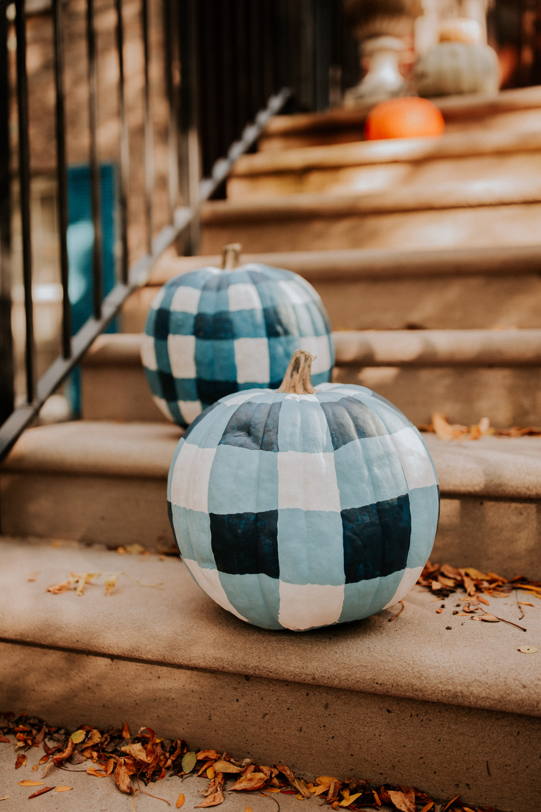 DIY Gingham Pumpkins Tutorial - Step 6